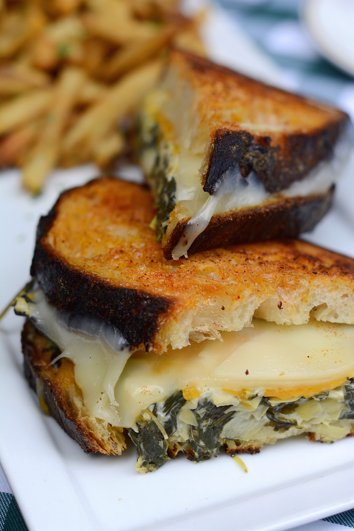 Tortoise Club Spinach and Artichoke Grilled Cheese Sandwich 2
