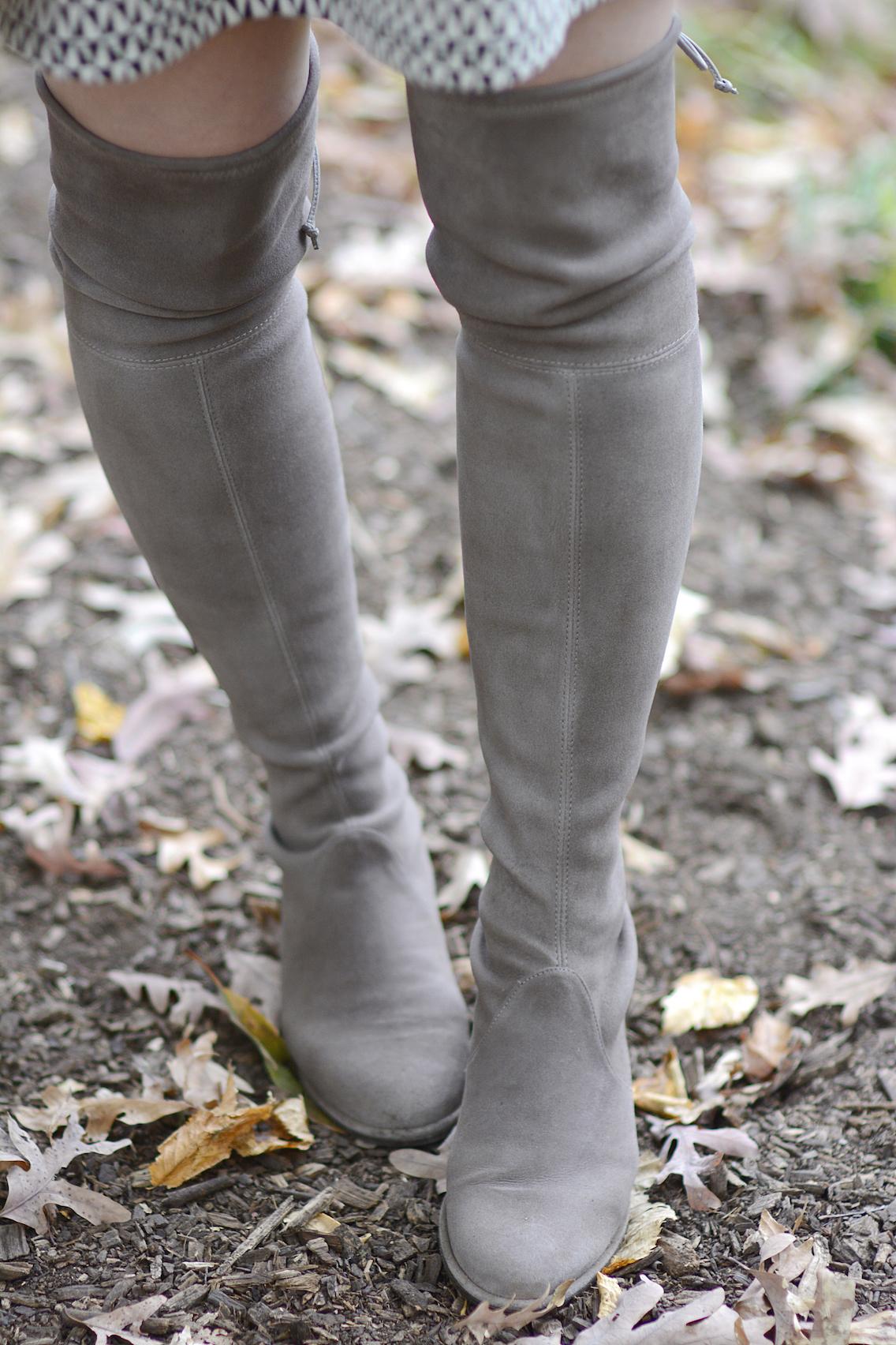 Stuart Weitzman Lowland Boots Zara Victoria Beckham 7