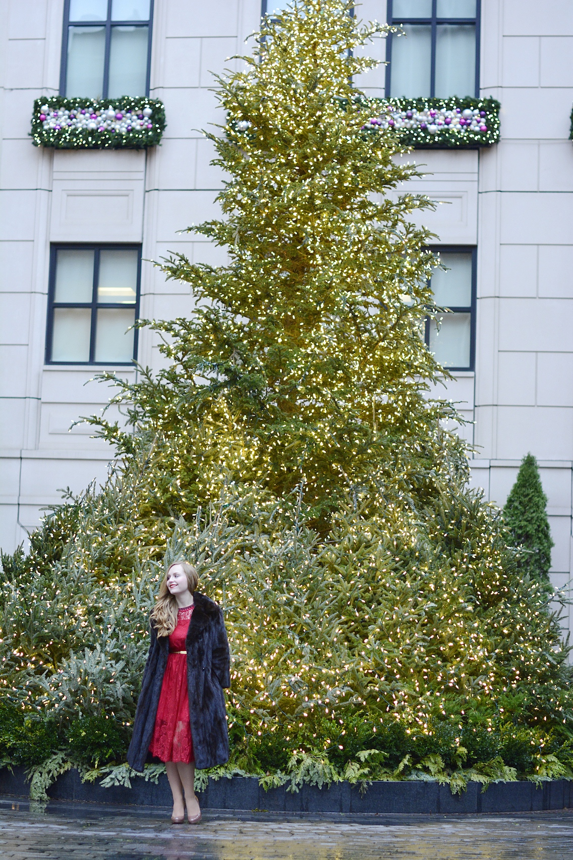 Chicwish Lace Dress LK Bennett Sledge Pumps 22