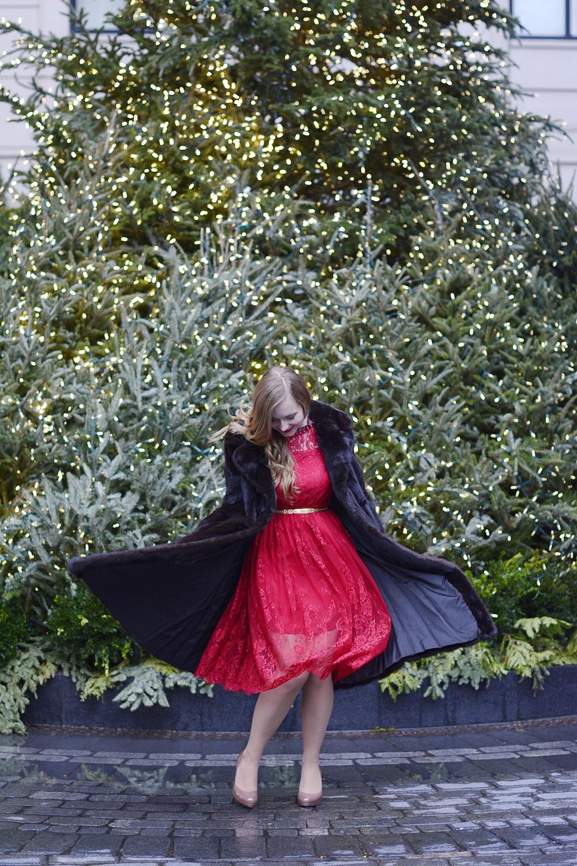 Chicwish Lace Dress LK Bennett Sledge Pumps 12