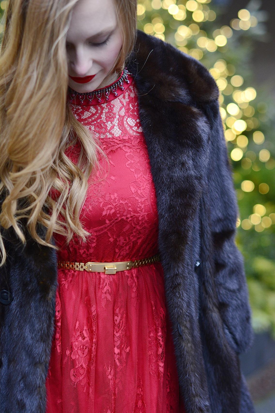Chicwish Lace Dress LK Bennett Sledge Pumps 6