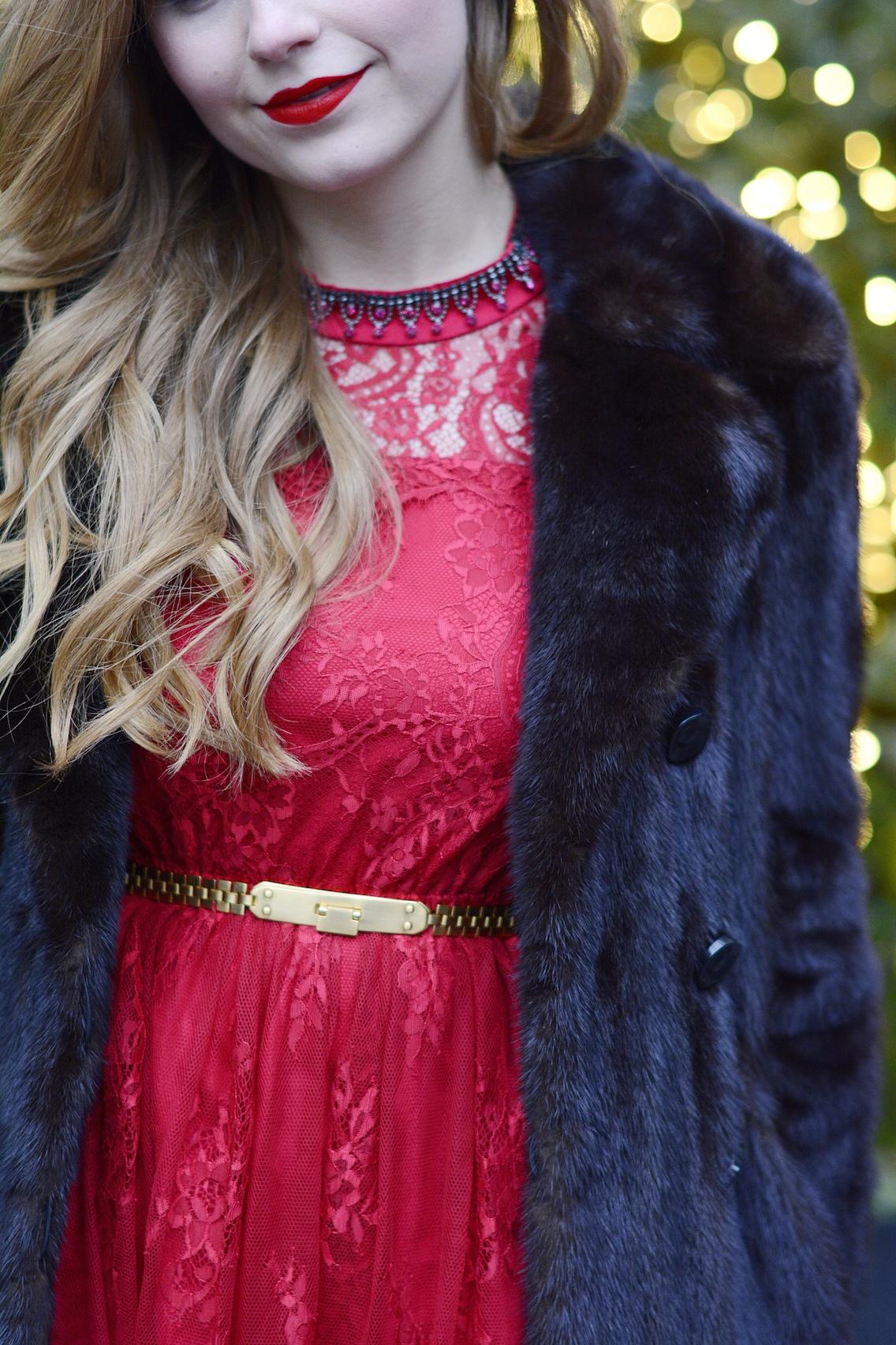Chicwish Lace Dress LK Bennett Sledge Pumps 4