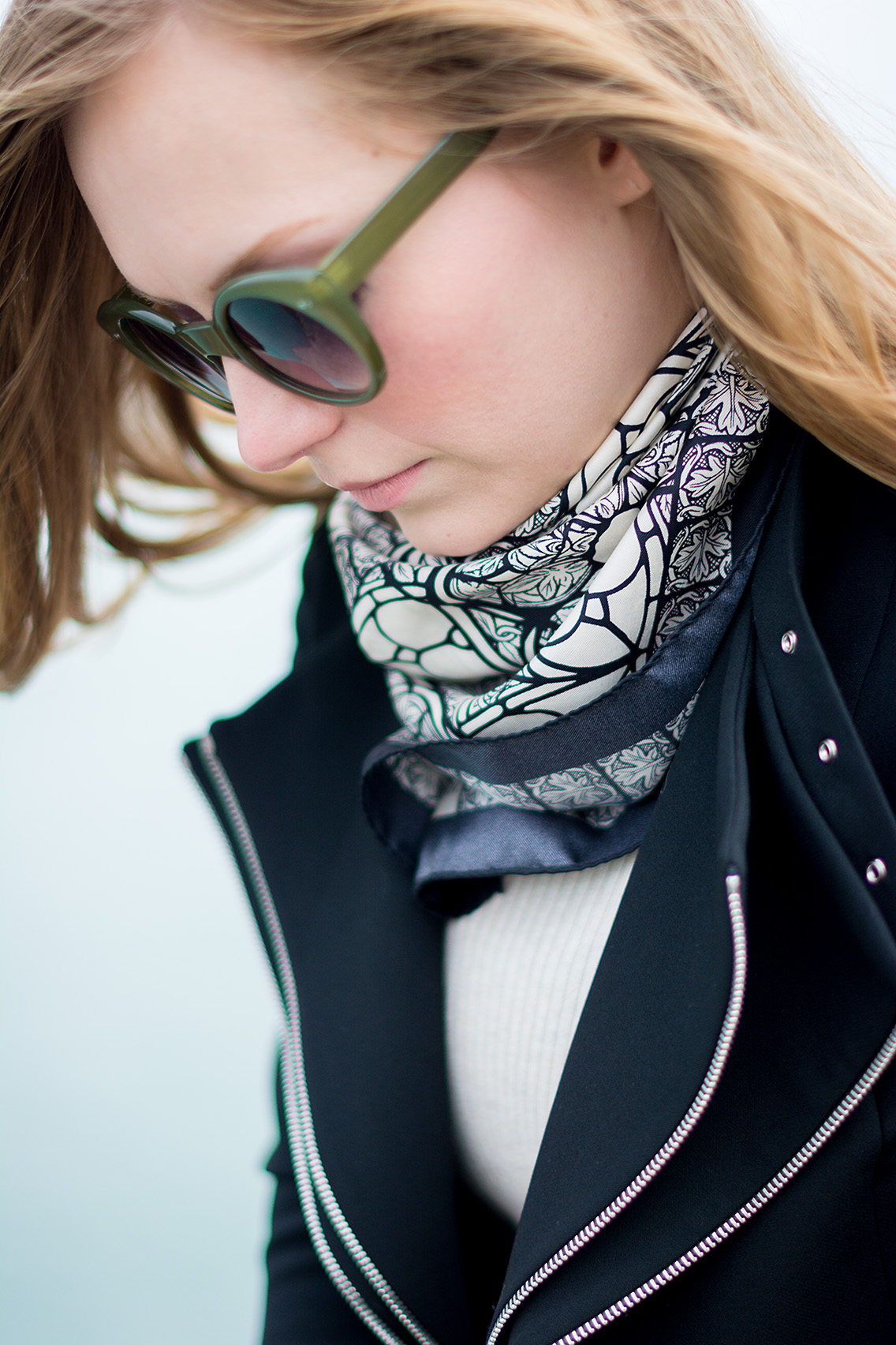 Alexander McQueen Stained Glass Scarf Joie Booties