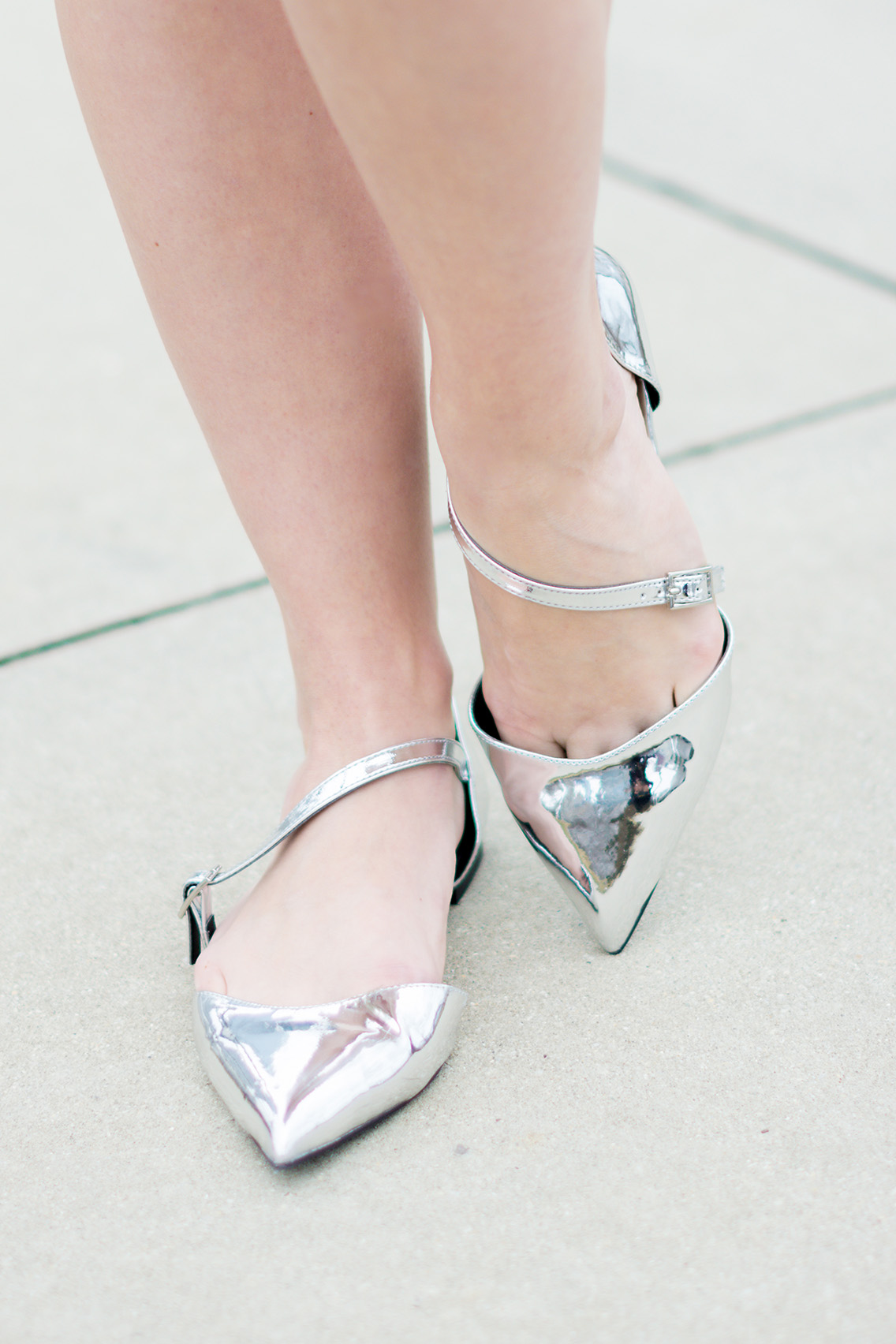 Forever 21 Nails Inc Asos Silver Flats
