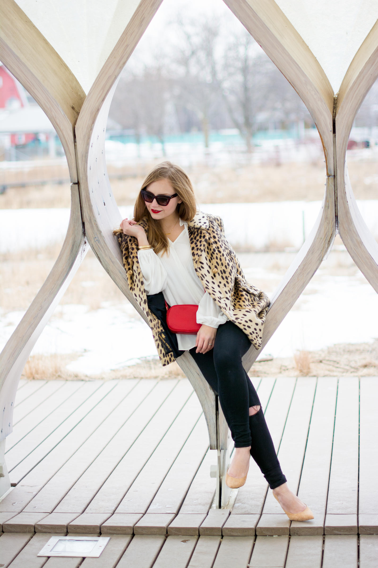 Vintage Winter Style Chicago Blogger