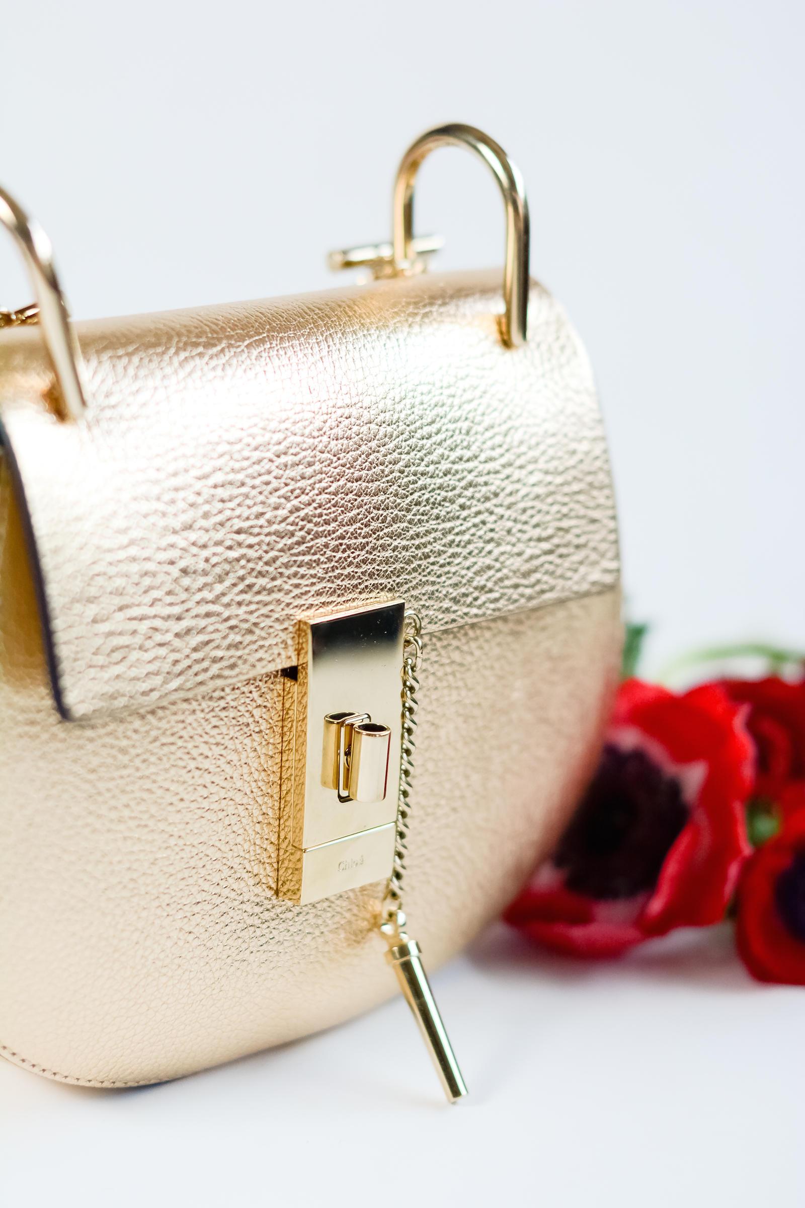 Chloé Drew Mini Bag in Pale Gold