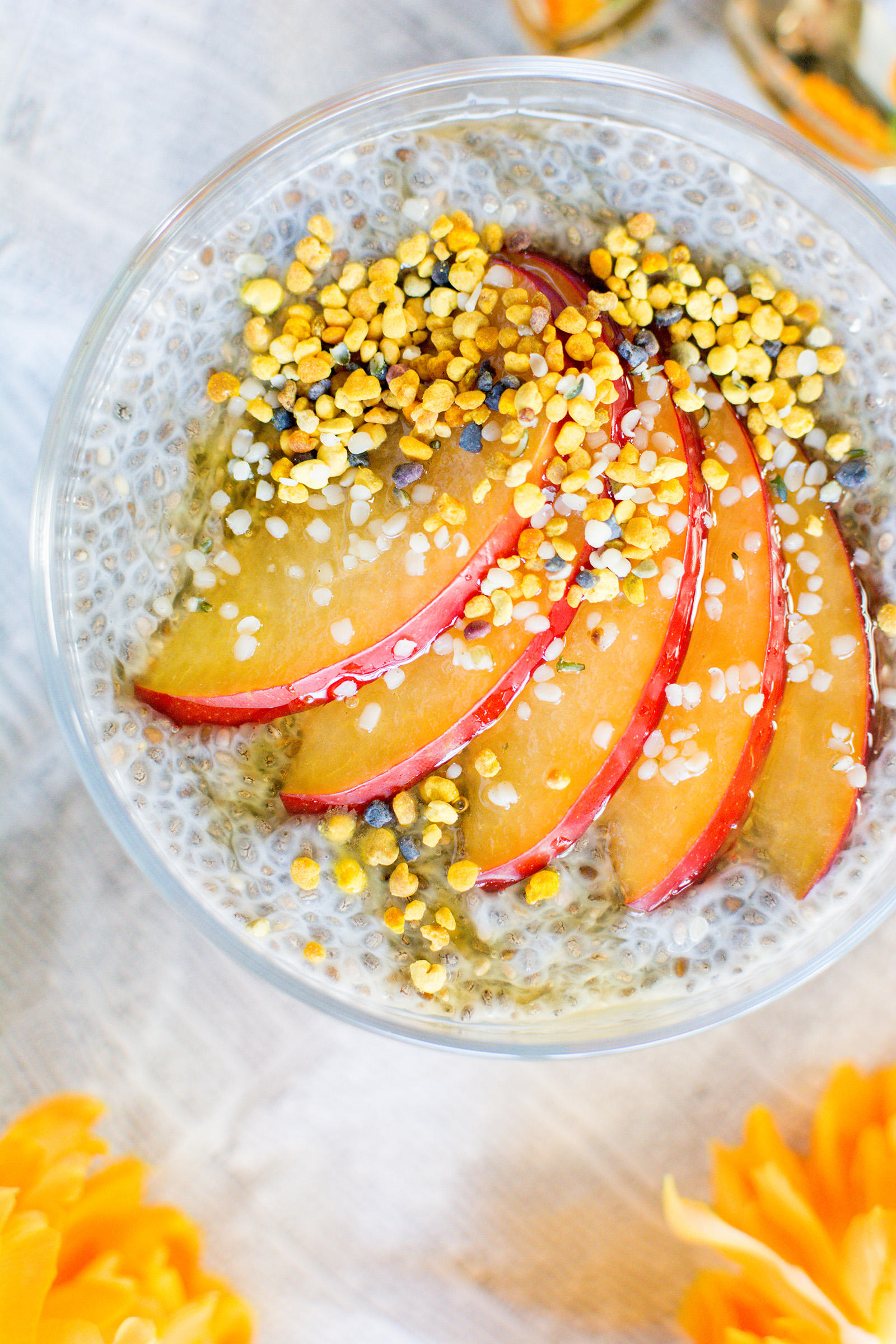 Easy Chia Pudding Recipe with Bee Pollen and Hemp Seed