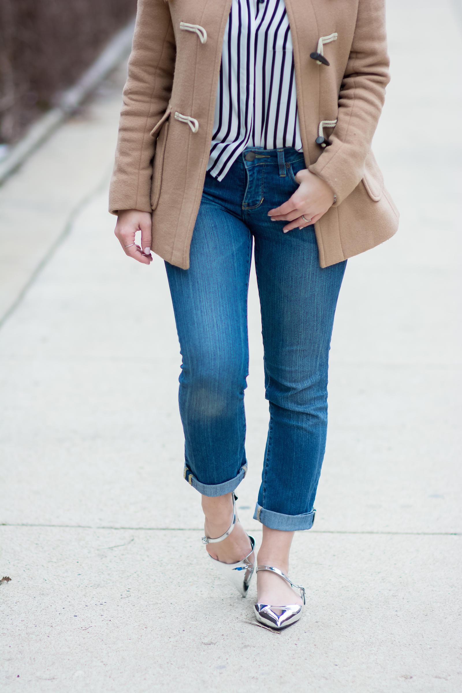 Stripe Silver Spring Outfit Chicago Blogger