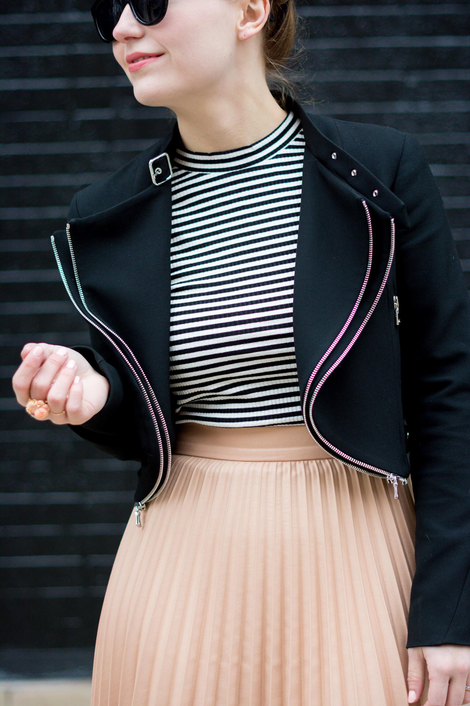 Zara Pink Black Spring Outfit