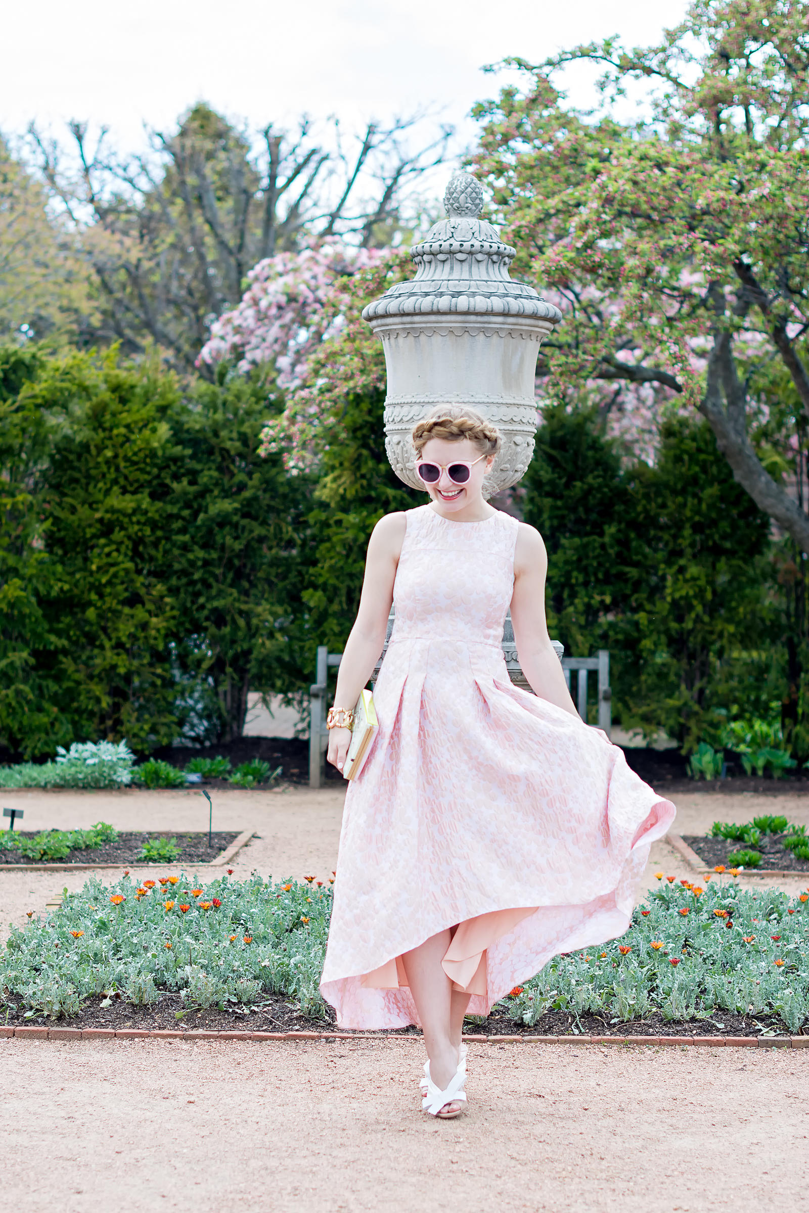 Pink Spring Look Inspiration Garden Miu Miu Kate Spade