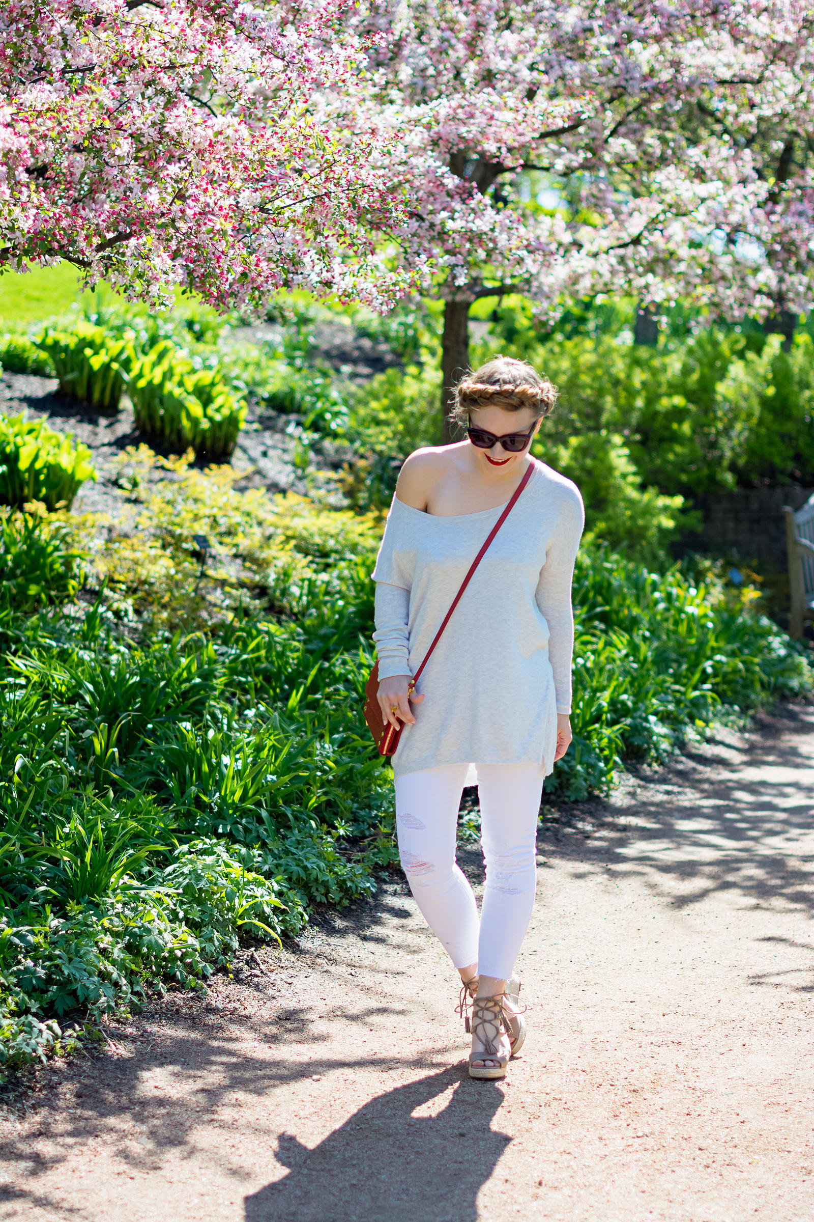 Hammitt Lucas Bag Lace-Up Wedges Summer Outfit