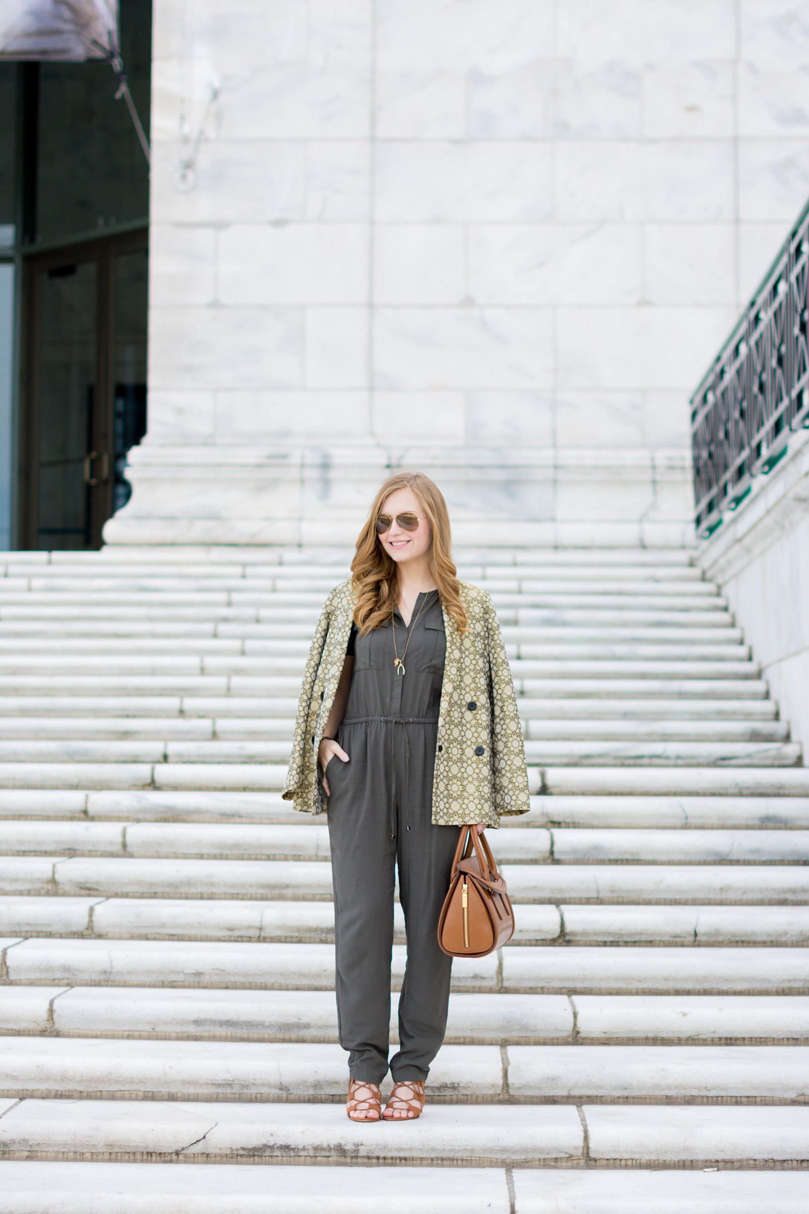 Green Jumpsuit SUNO Alexander McQueen Outfit