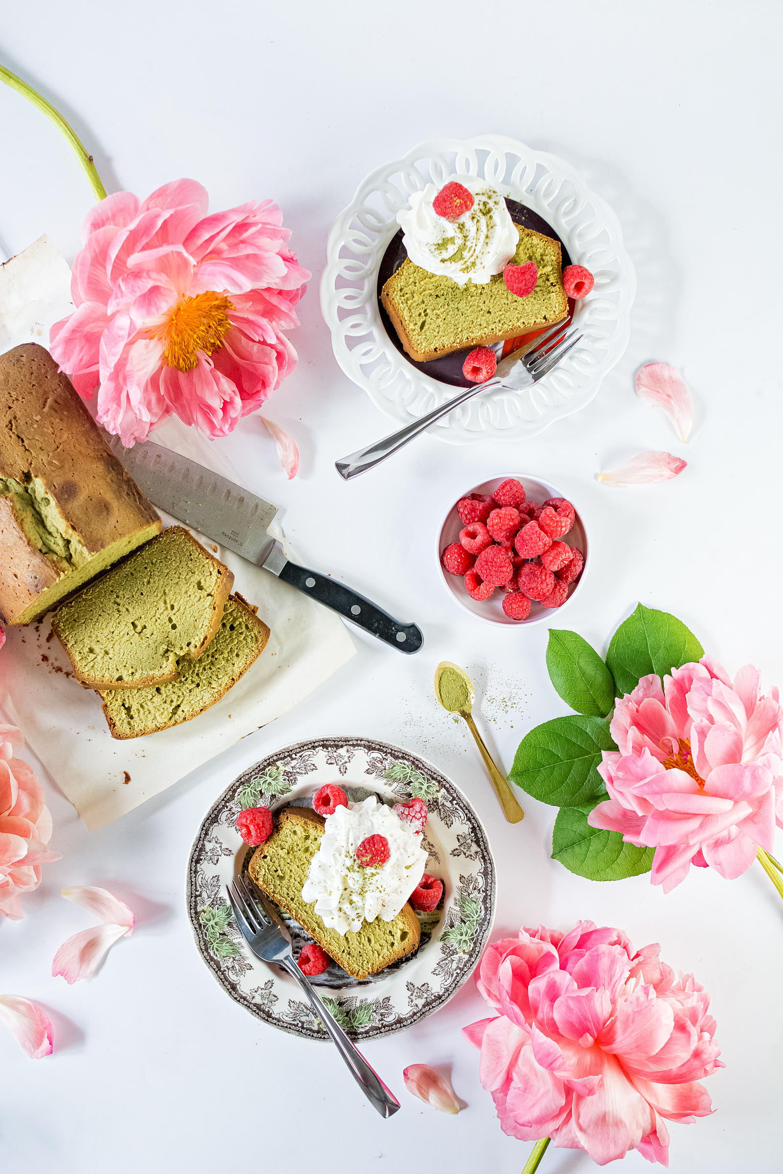 Matcha Green Tea Pound Cake Recipe