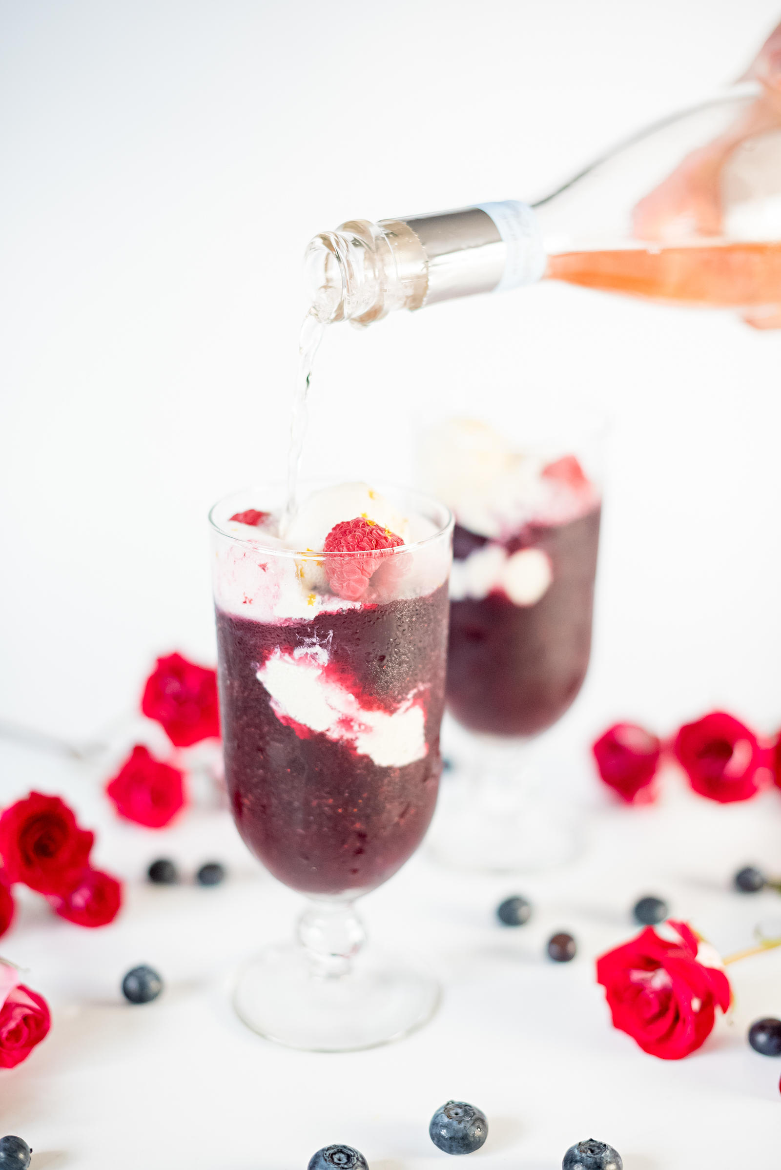 Rose Wine Slushie Floats Recipe Memorial Day