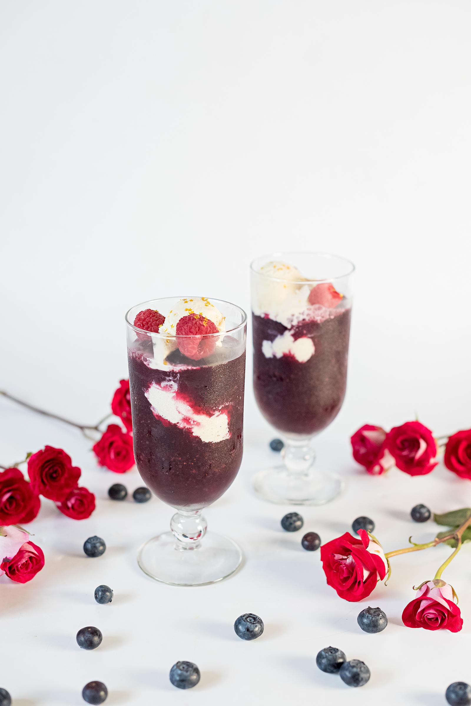 Rose Wine Slushie Floats Recipe Memorial Day