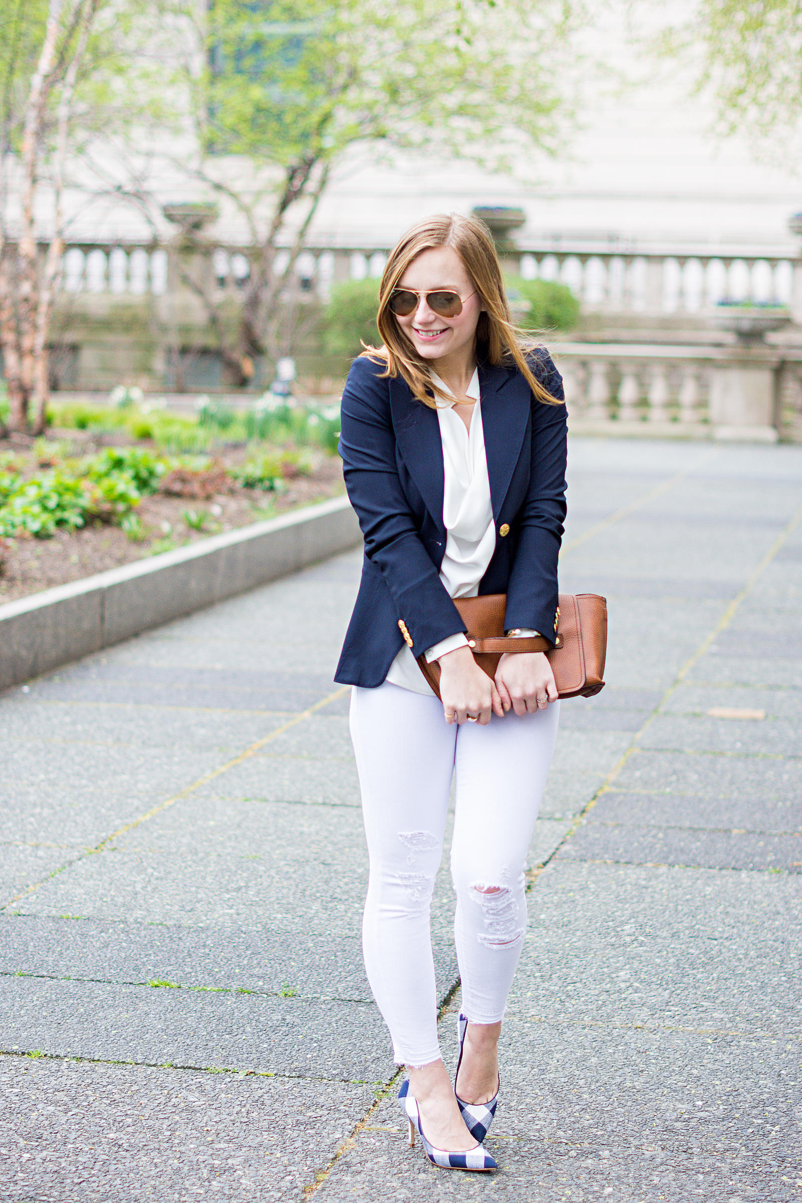 Smythe Blazer Gingham Spring Style