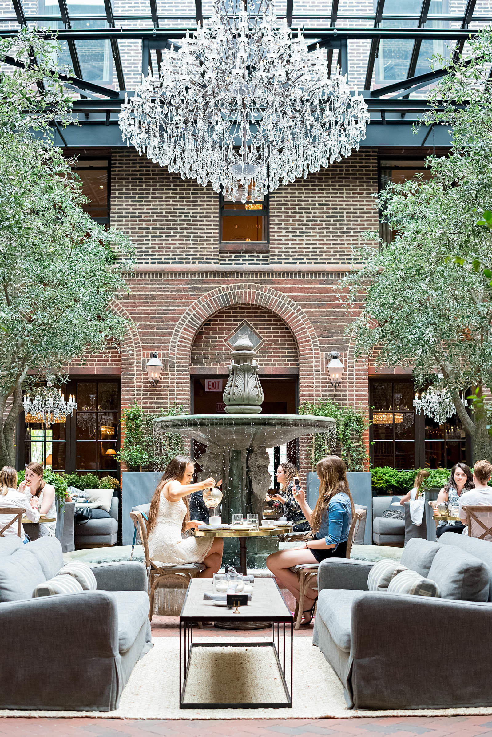 Restoration Hardware Cafe : Fountainside luncheons at arts club cafe sed bona
