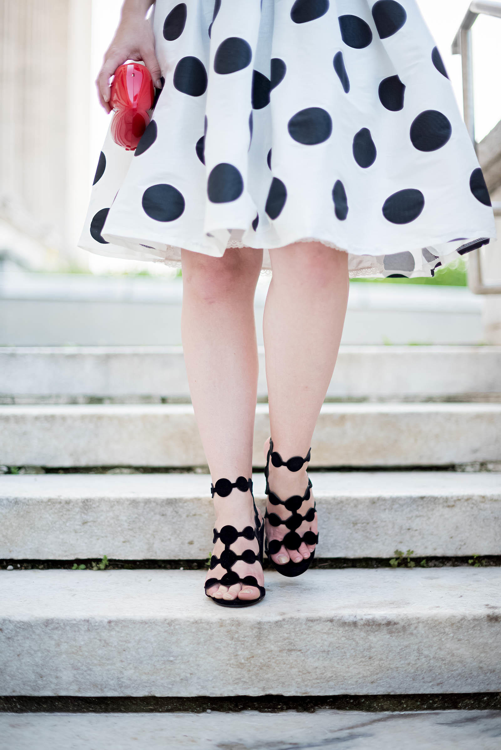 Stripes Polka Dots Chic French Summer Outfit