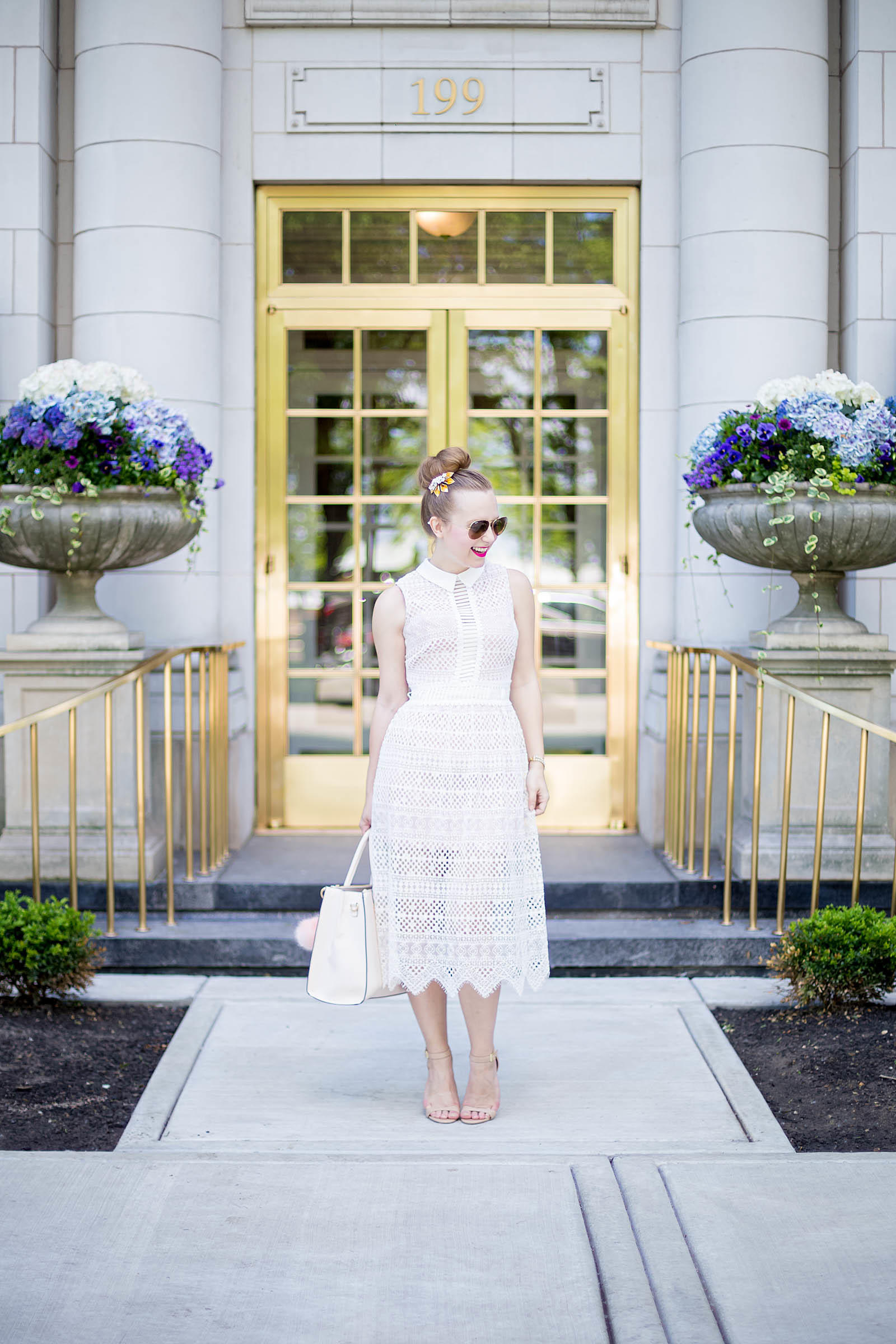 What to Wear to a Baby Shower White Lace Dress