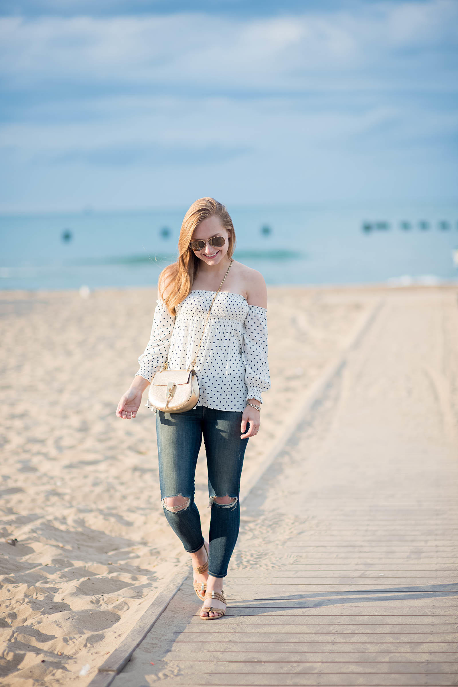 Summer Jeans Beach Outfit Chloe Drew