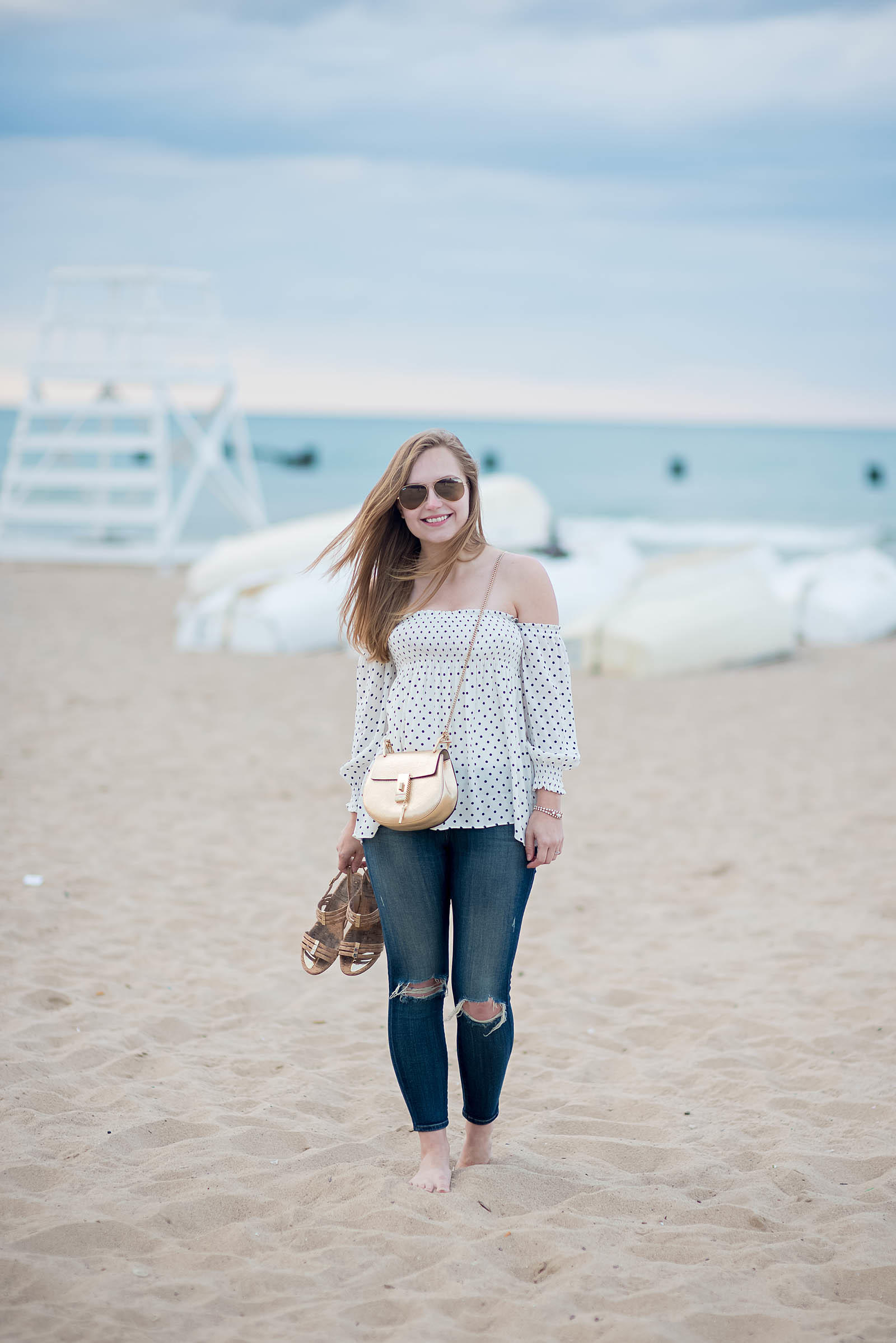 Summer Jeans Beach Outfit Chloe Drew
