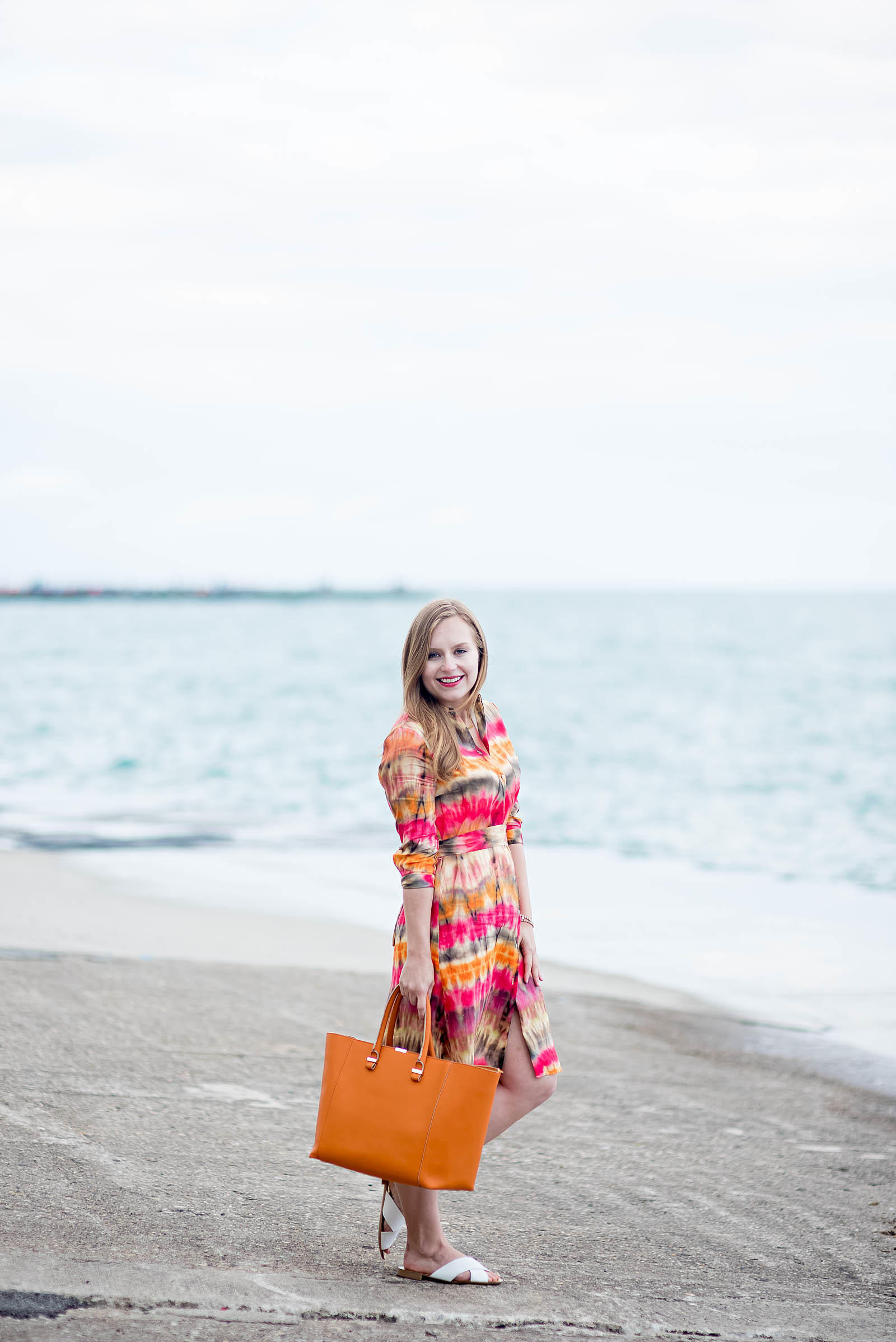 Tie Die Shirtdress Summer Outfit