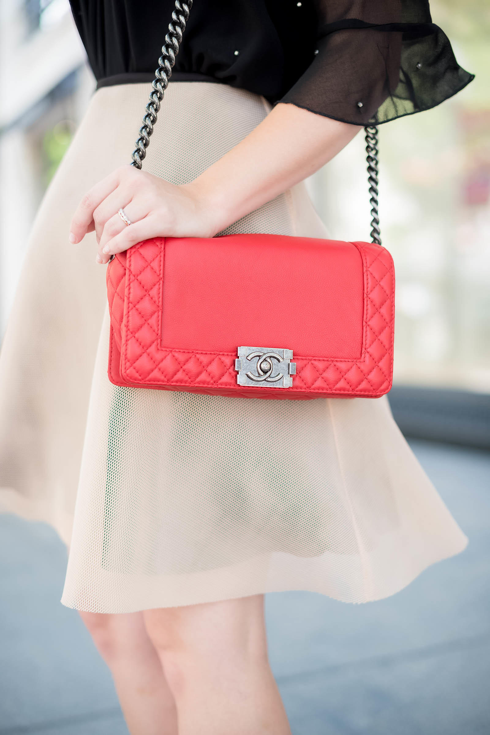 Chanel Red Boy Bag Topshop Zara Red Lips