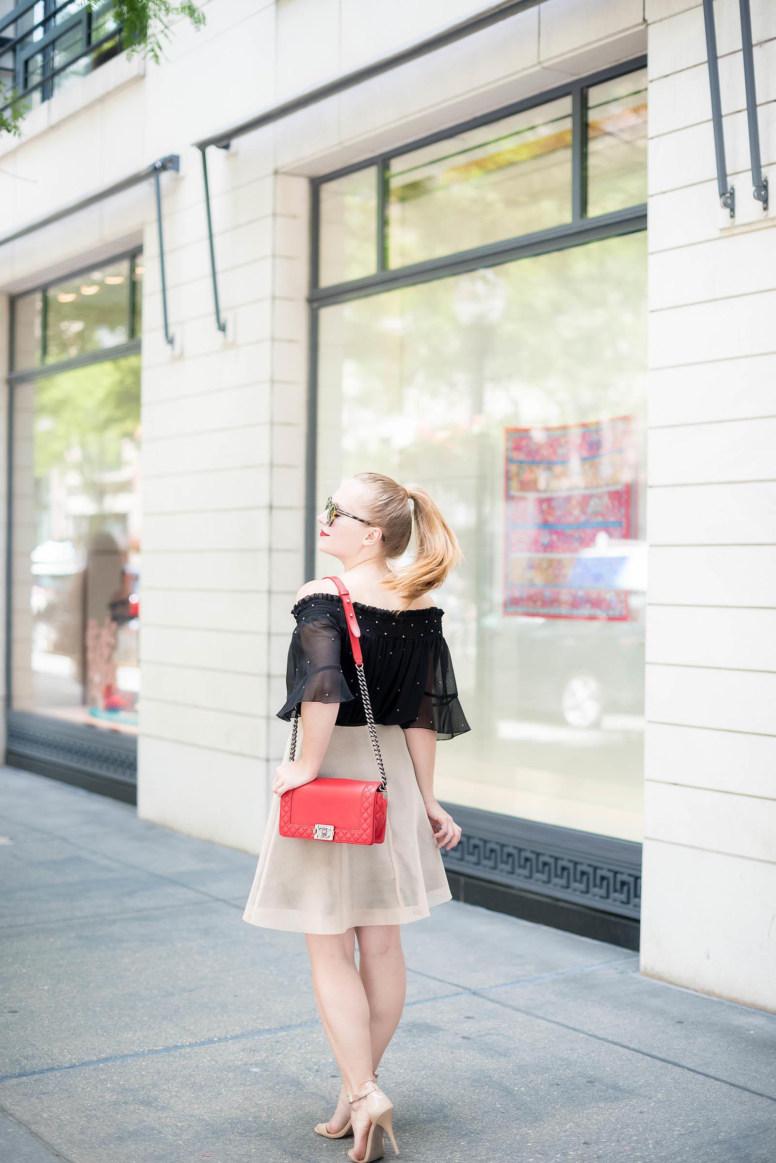 Chanel Red Boy Bag Topshop Zara Red Lips