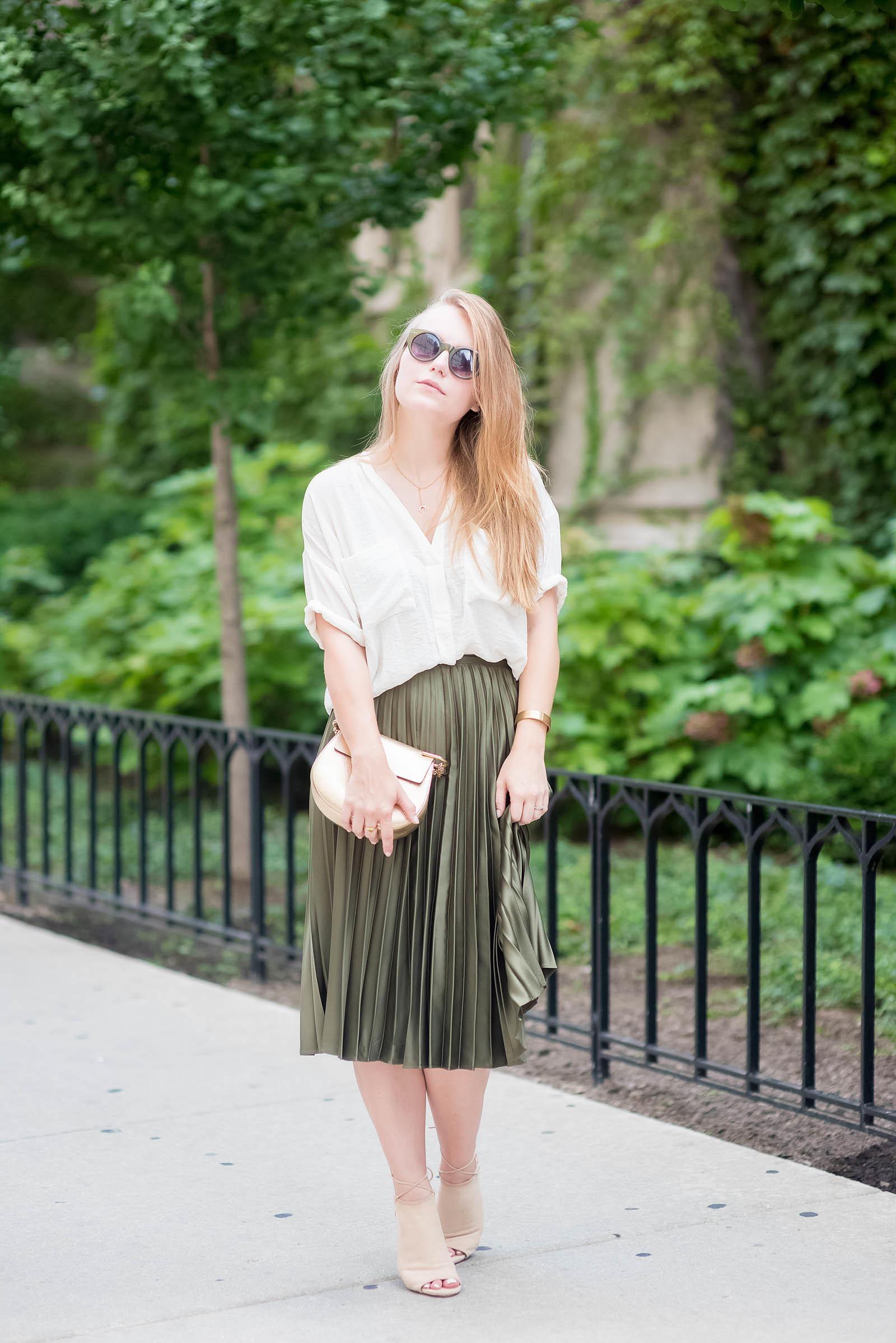 Green Nude Chloé Aquazzura Outfit Inspiration