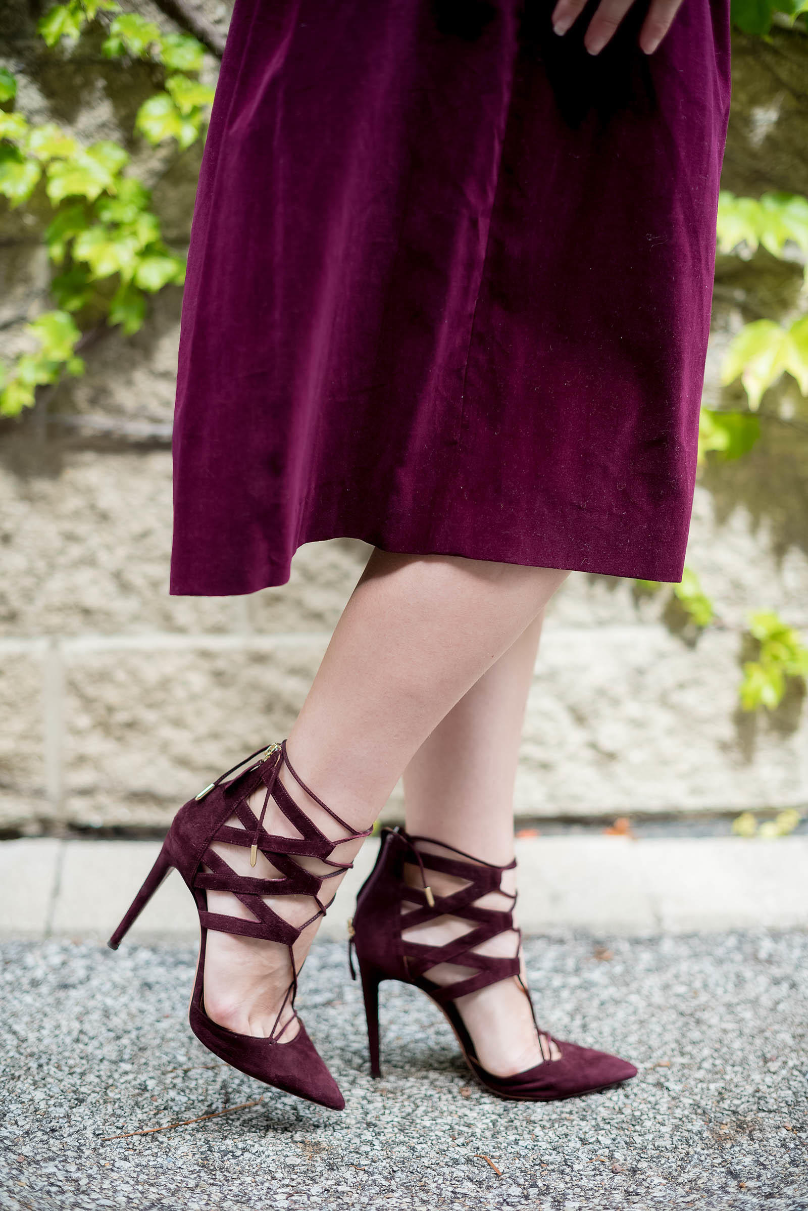 Burgundy Monochrome Fall Outfit