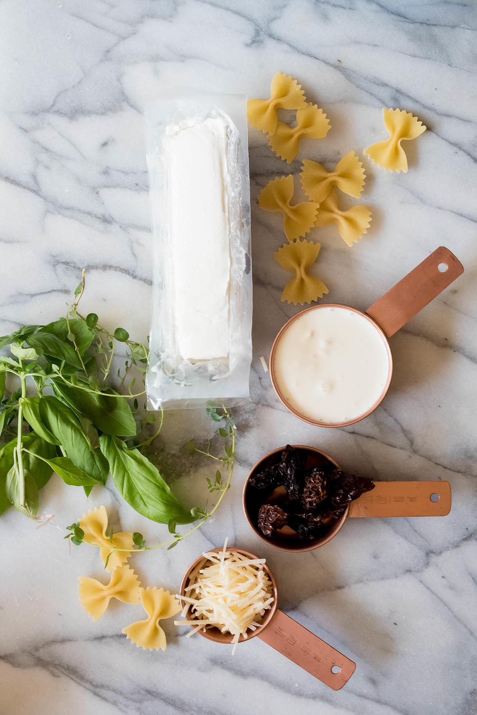 Goat Cheese Alfredo Pea Bow Tie Pasta Recipe