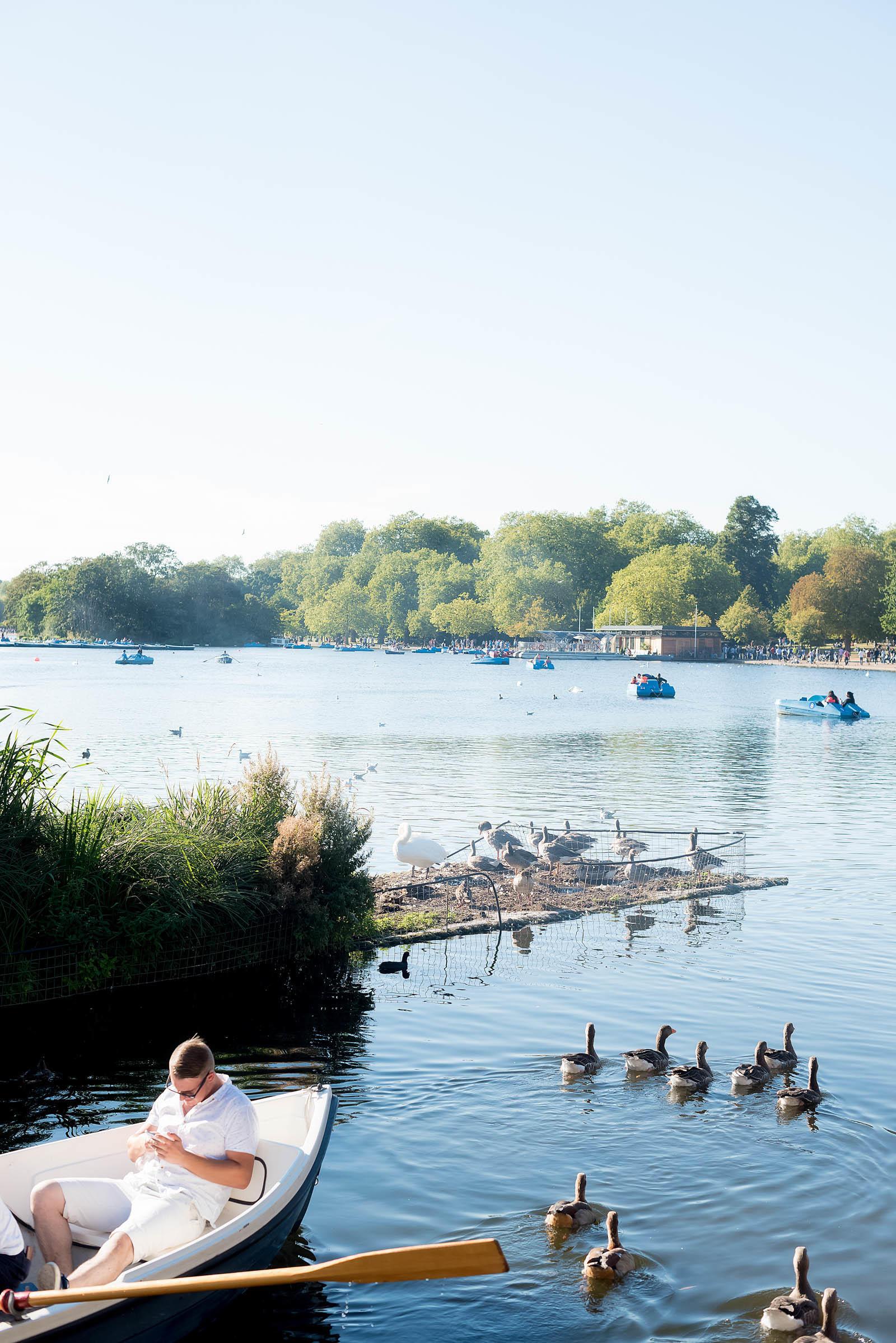 Serpentine Lake Hyde Park London
