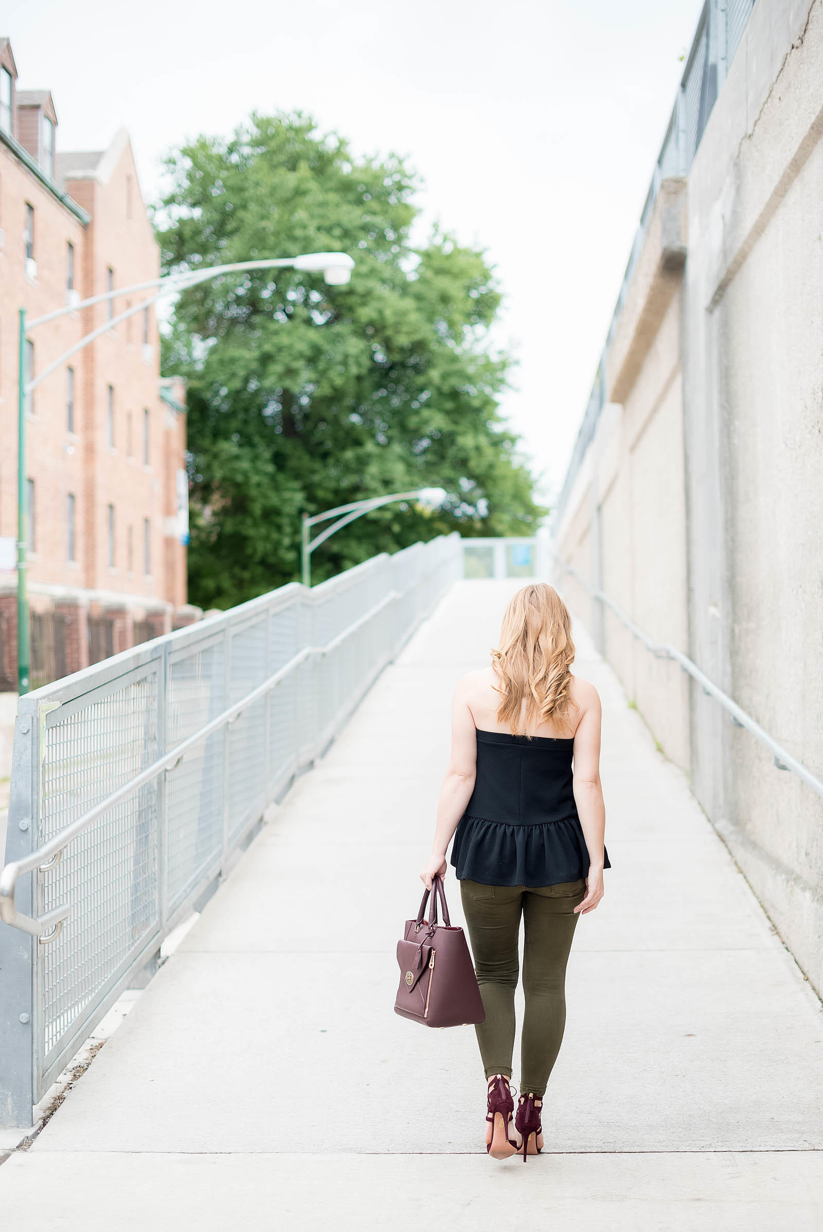 Green Burgundy Fall Outfit