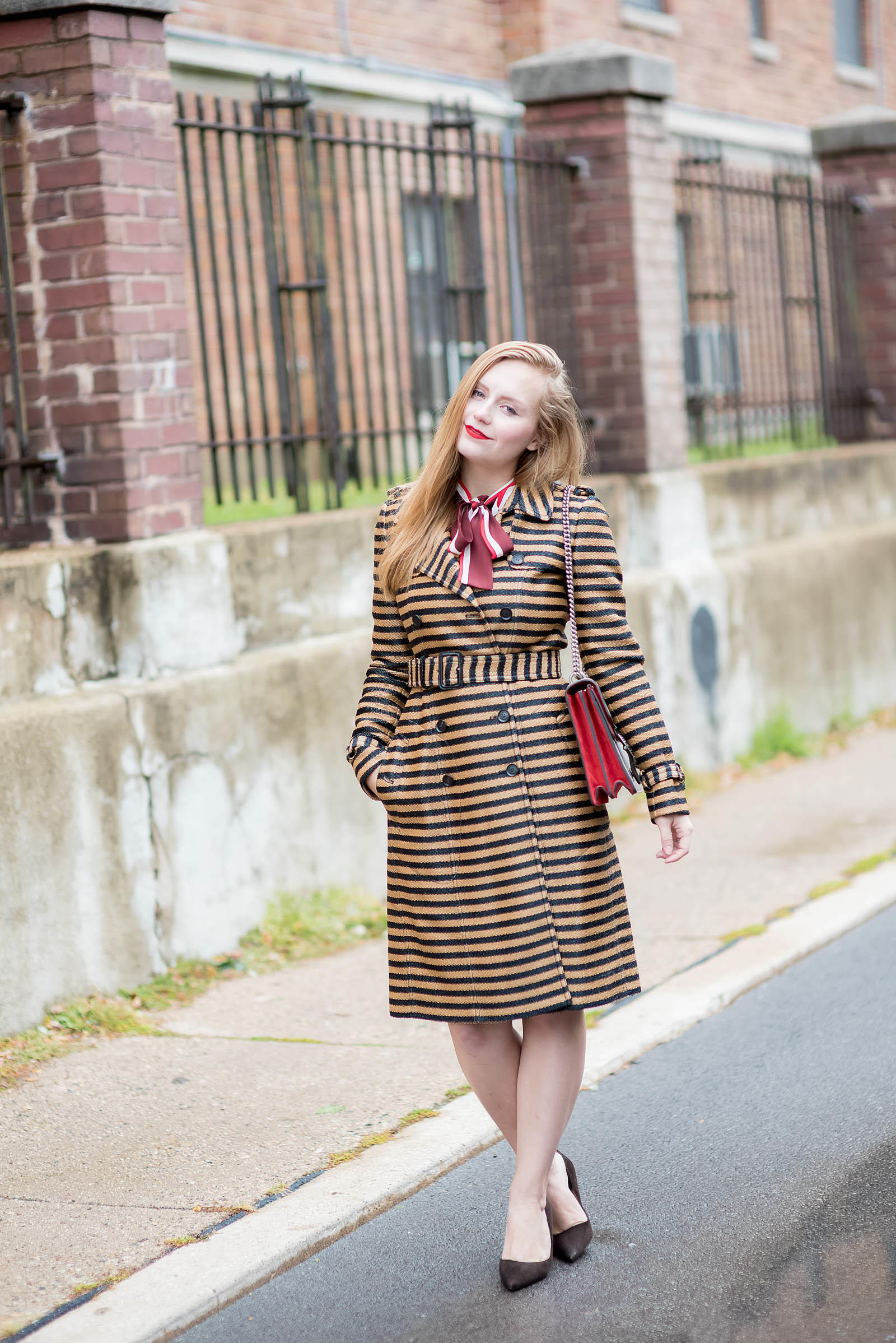 Burberry Prorsum Trench Gucci Dionysus Red Outfit