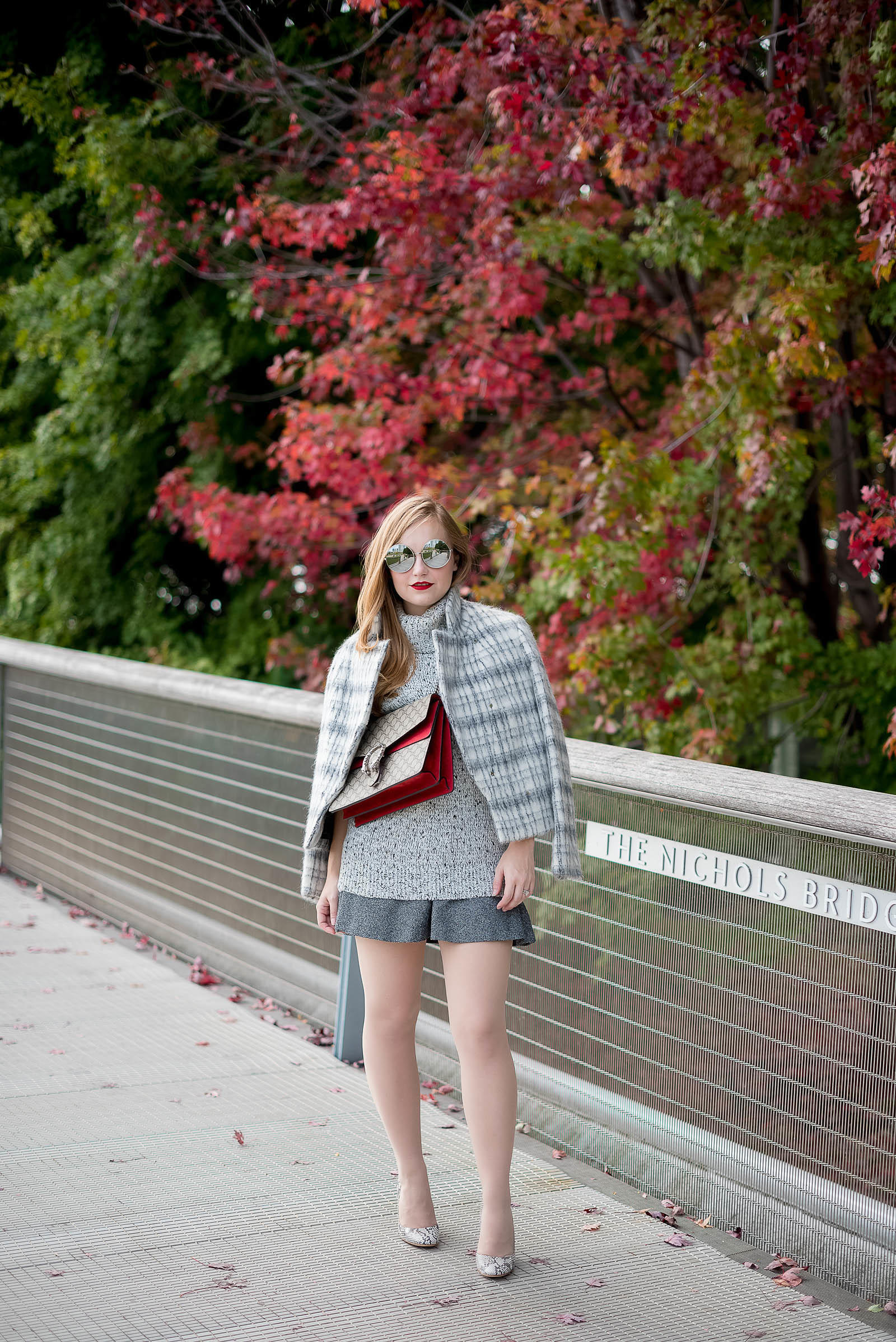 Gucci Fall Gray Style Chicago Fashion