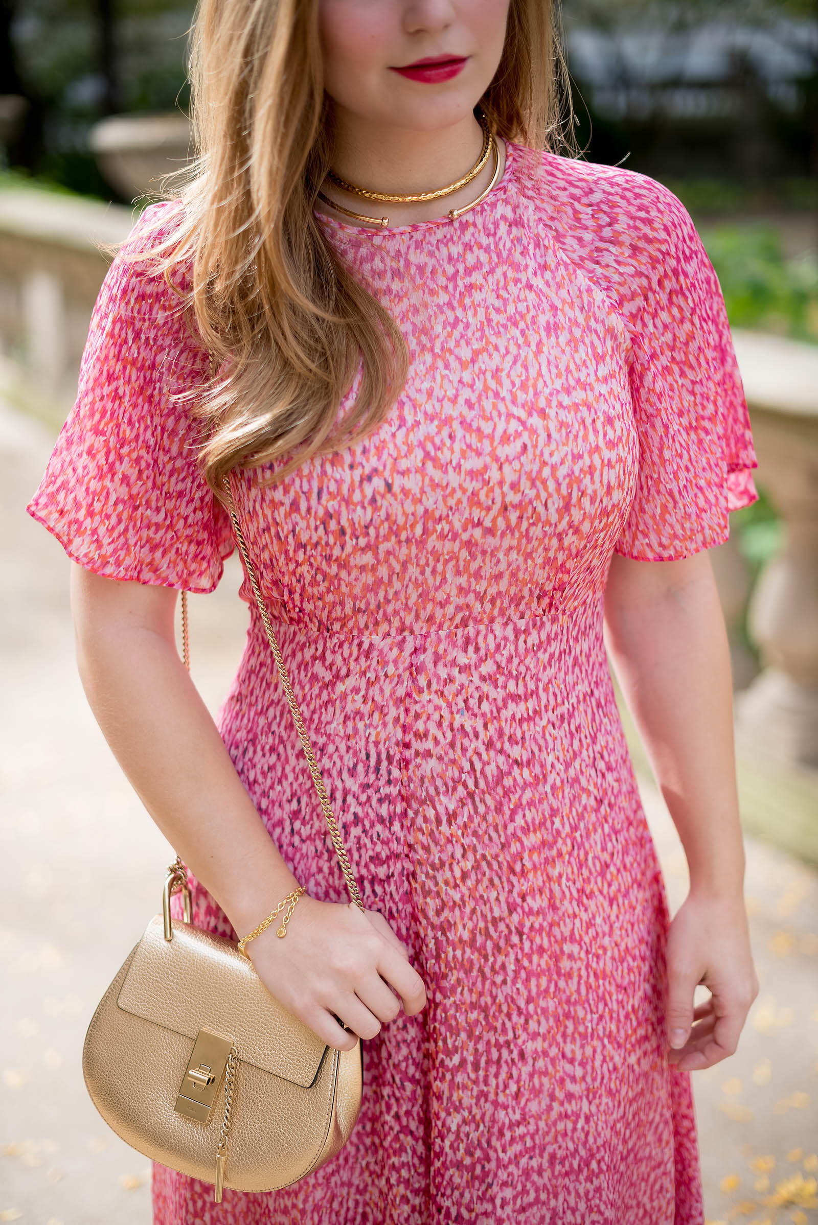 Pink LK Bennett Madison Dress Fall Style