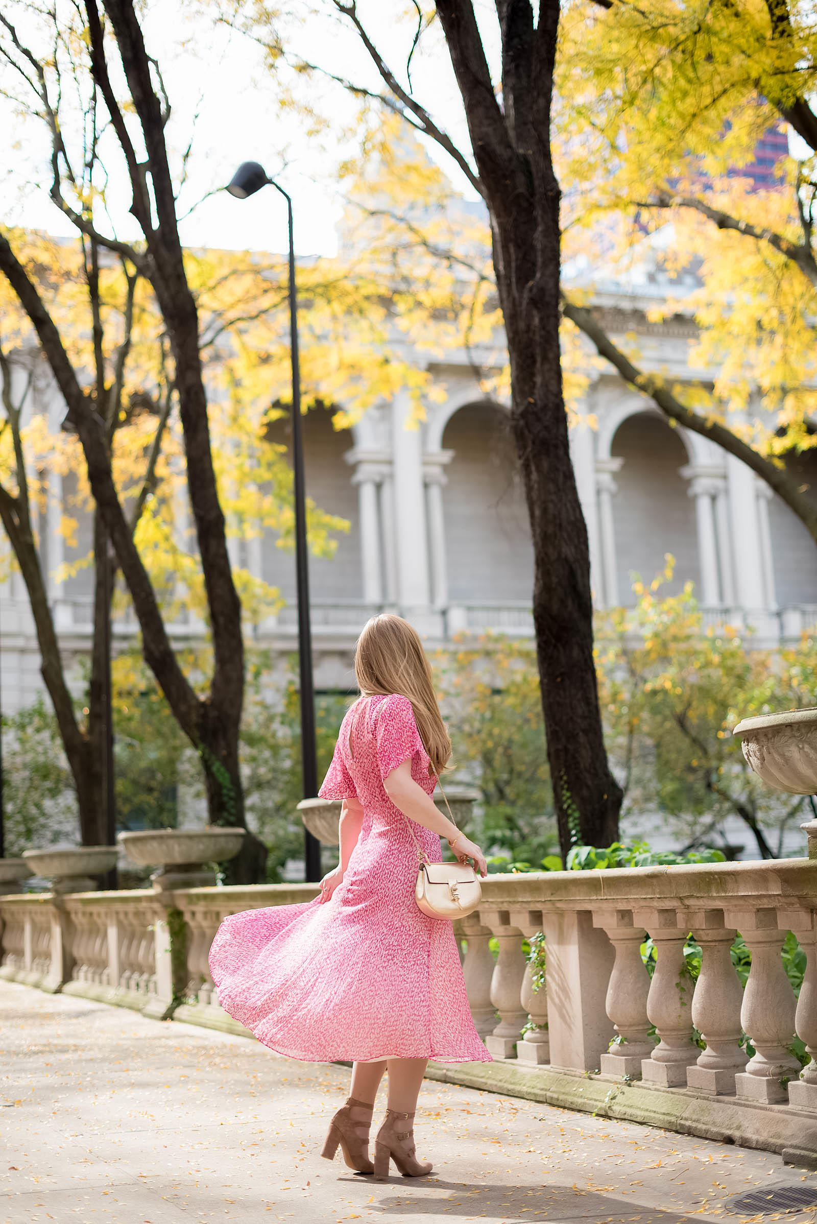 Pink LK Bennett Madison Dress Fall Style