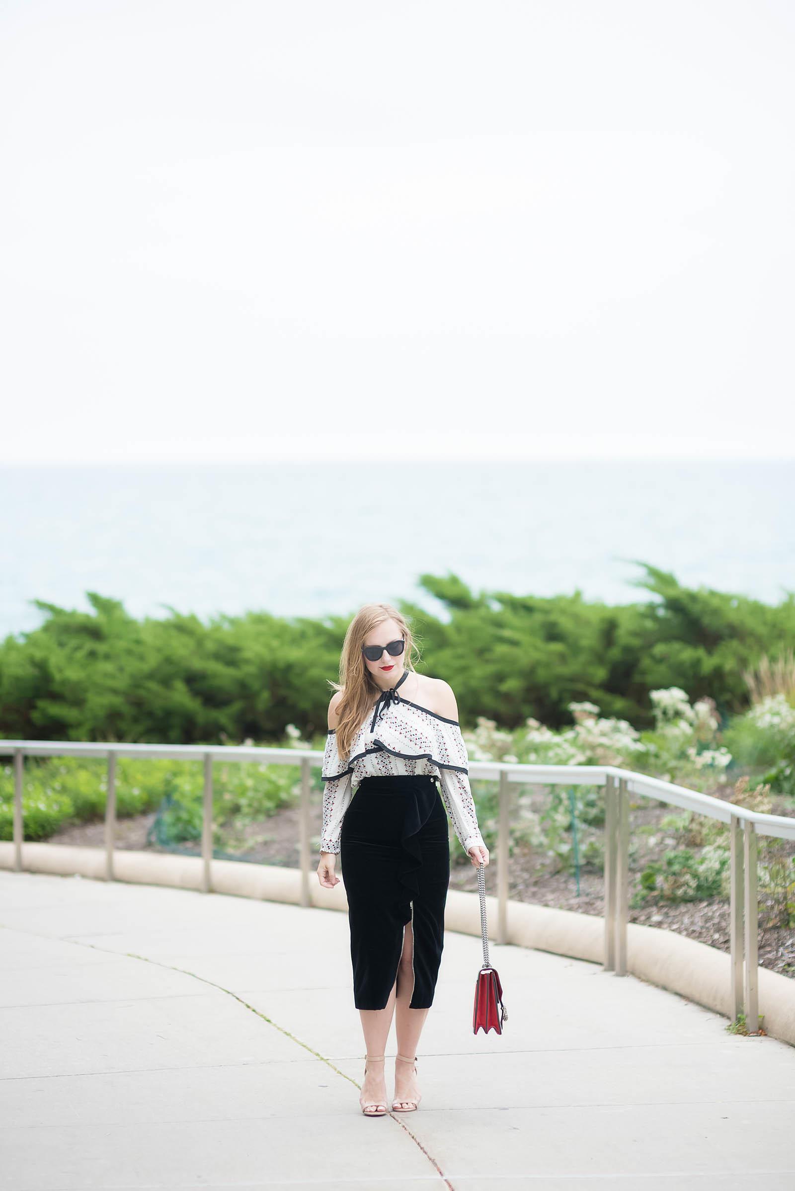 Velvet Holiday Ruffle Style Inspiration
