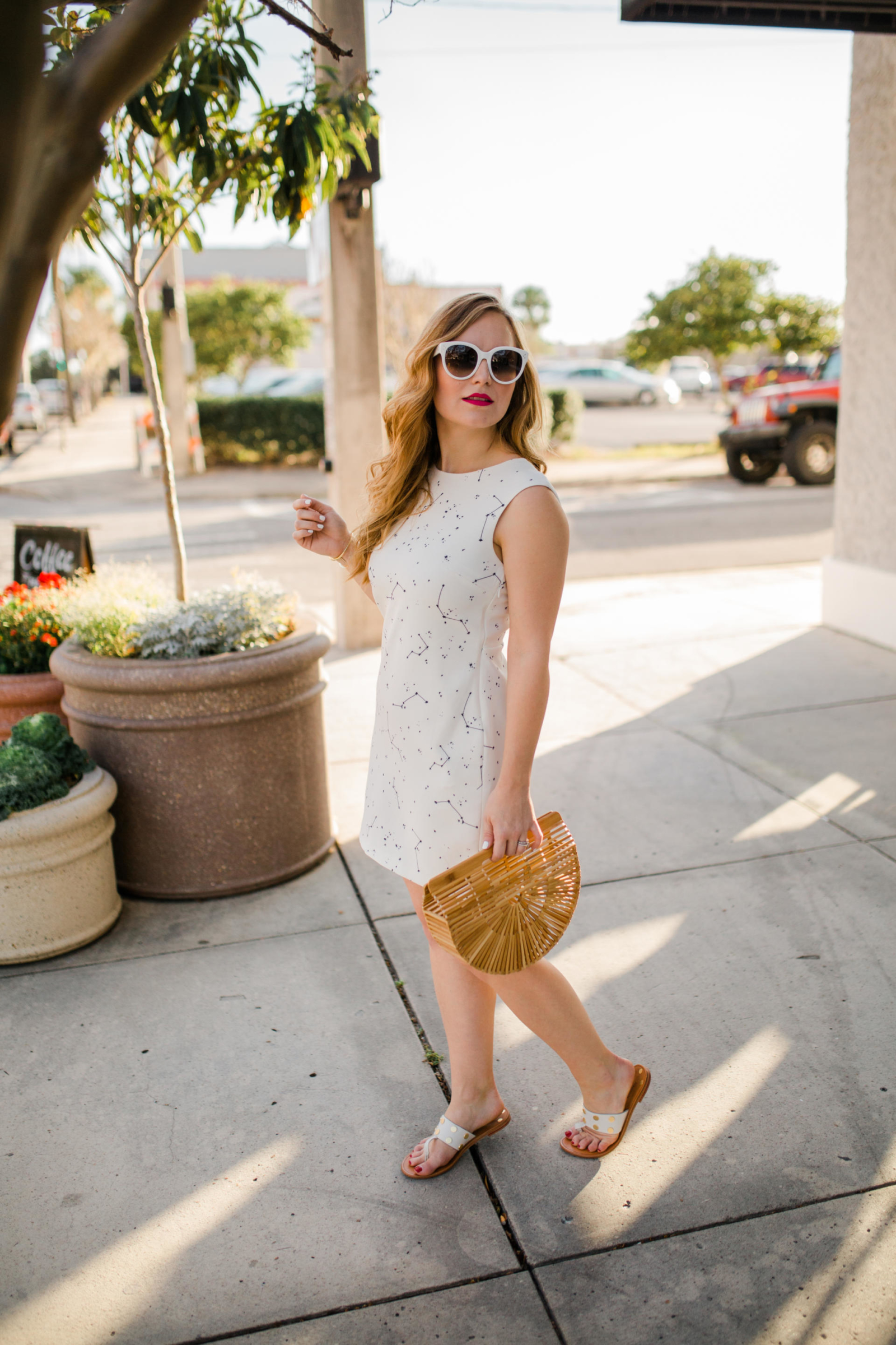 Florida White MIni Dress Vacation Outfit Inspiration