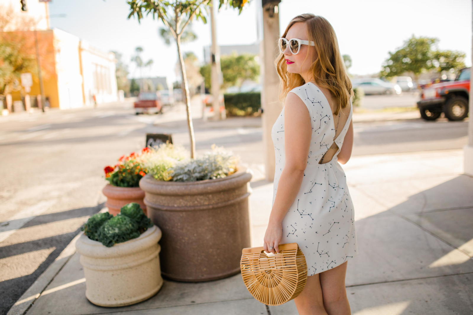 Florida White MIni Dress Vacation Outfit Inspiration