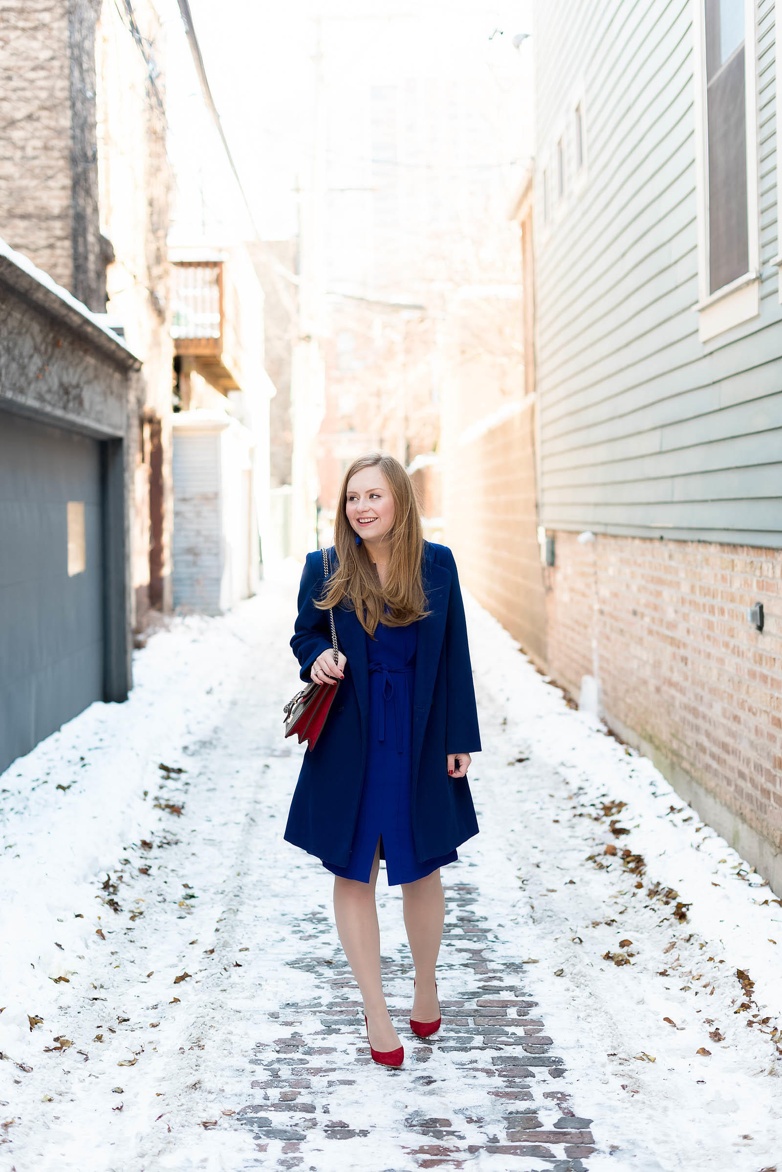 Cobalt Scarlet Winter Outfit Inspiration