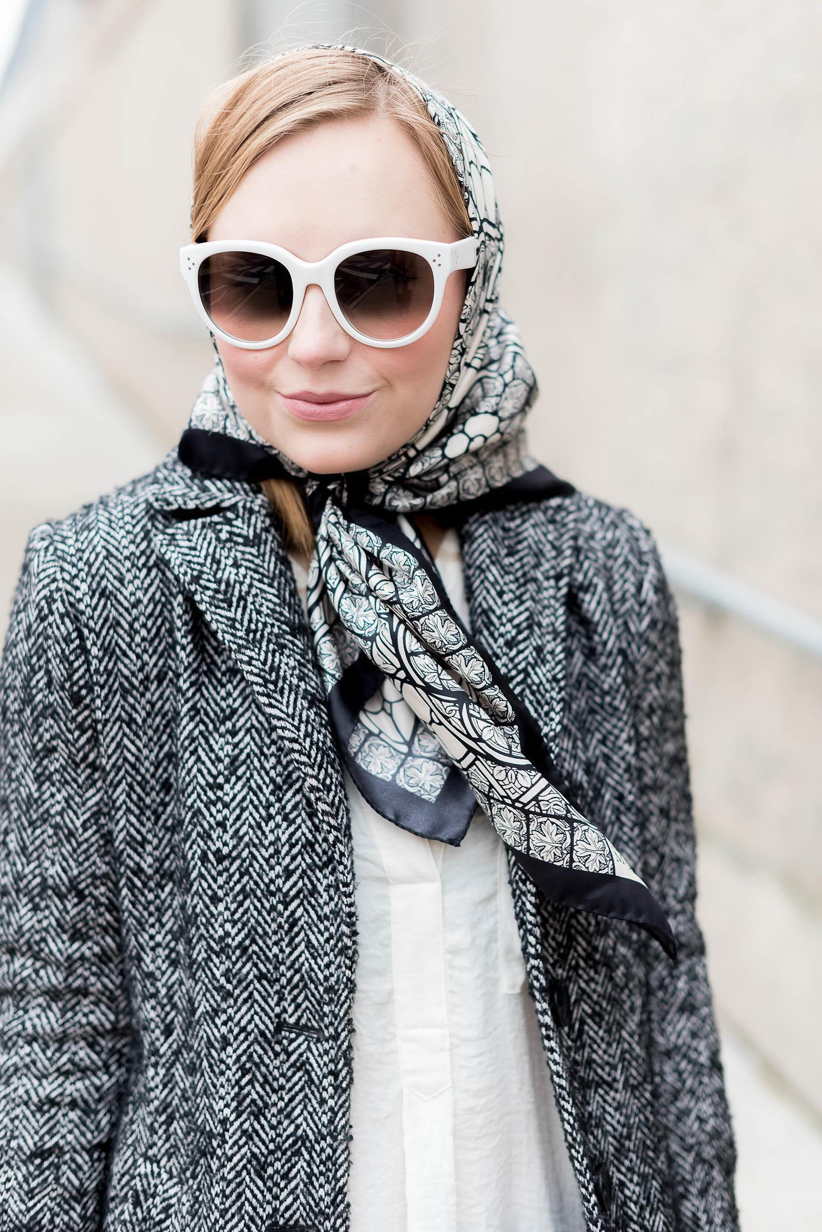 Alexander McQueen Victoria Beckham Céline Babushka Outfit