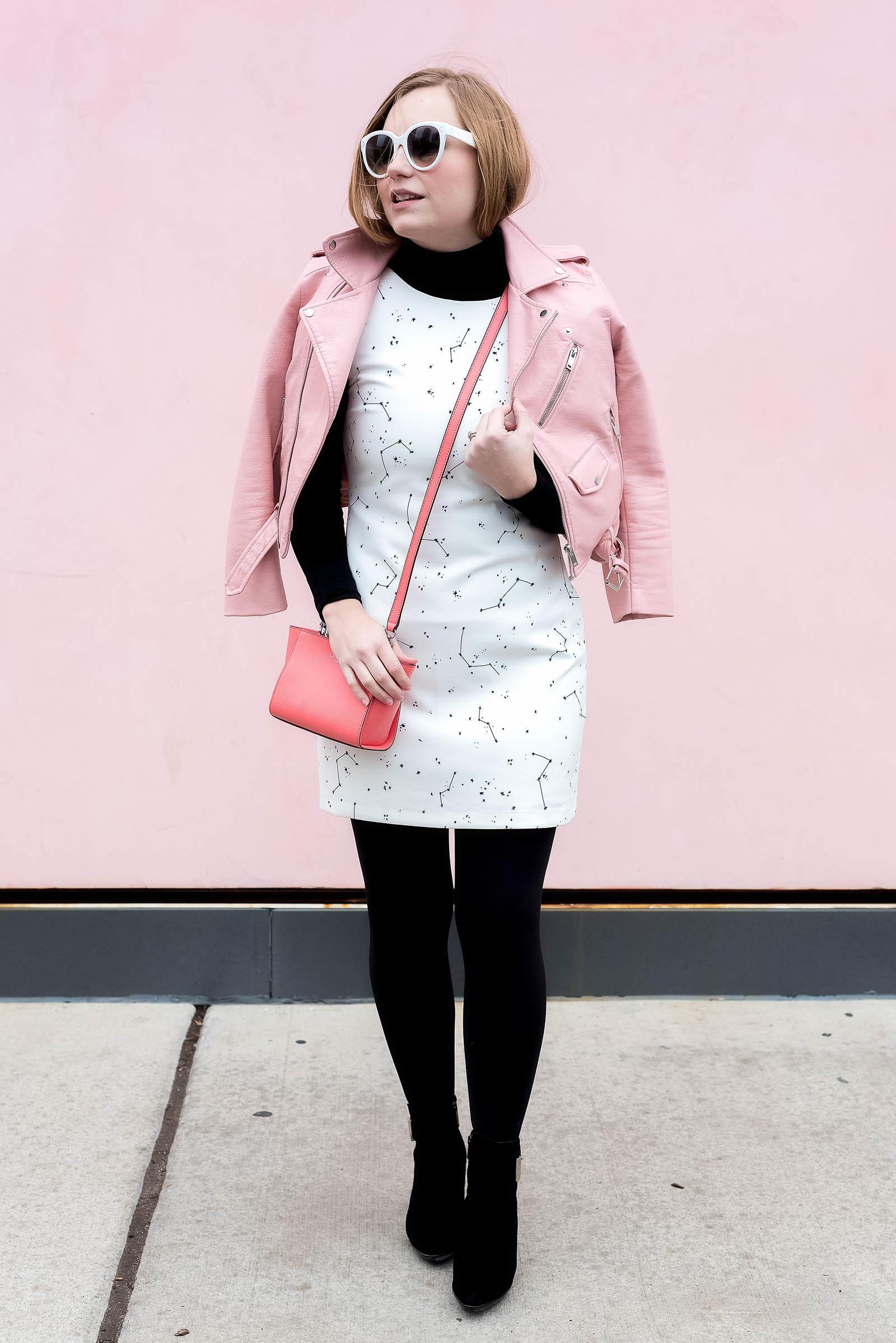 White Constellation Star Dress Black Pink LK Bennett