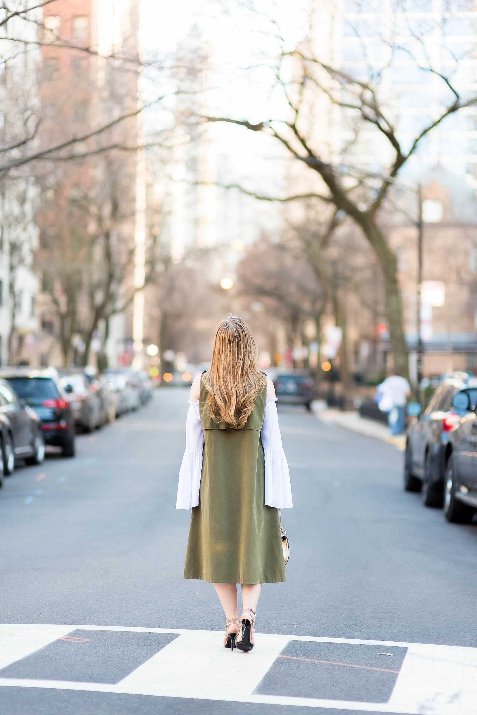 Green Pleats Trench Vest Bell Sleeve Chloé Outfit