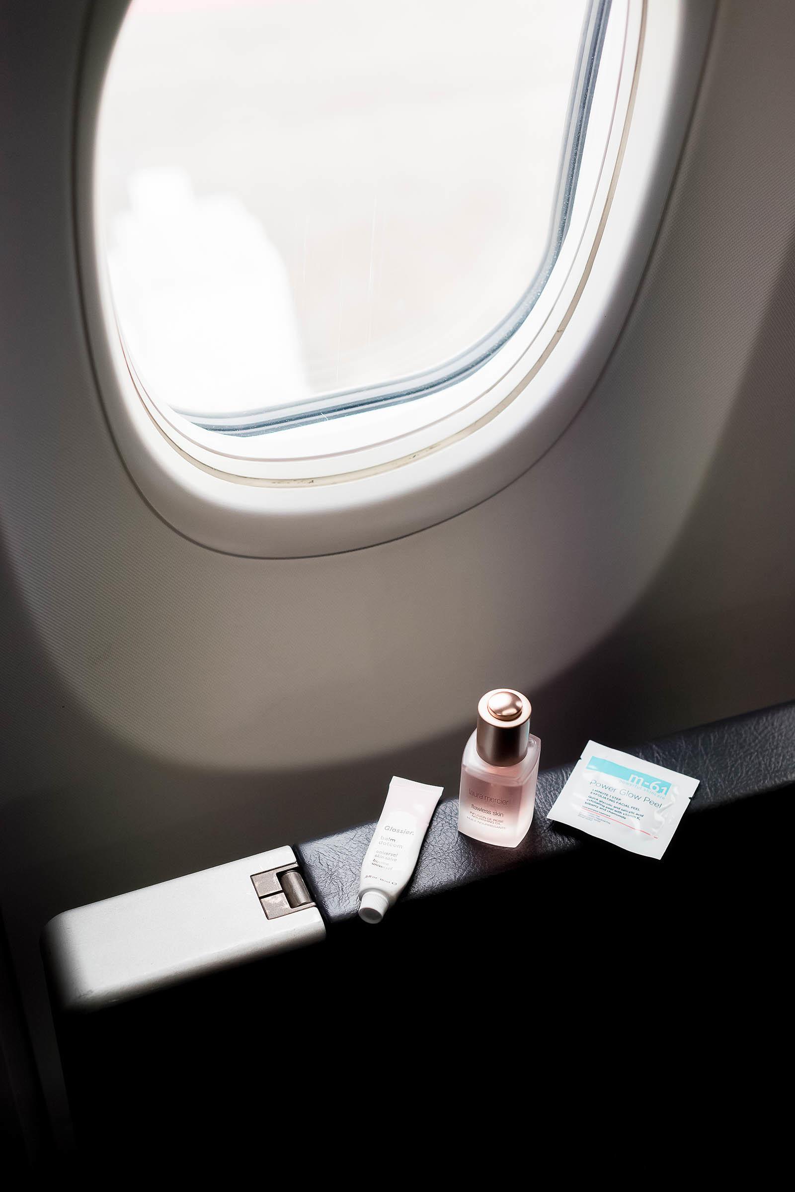 In-Flight Plane Skin Care Routine