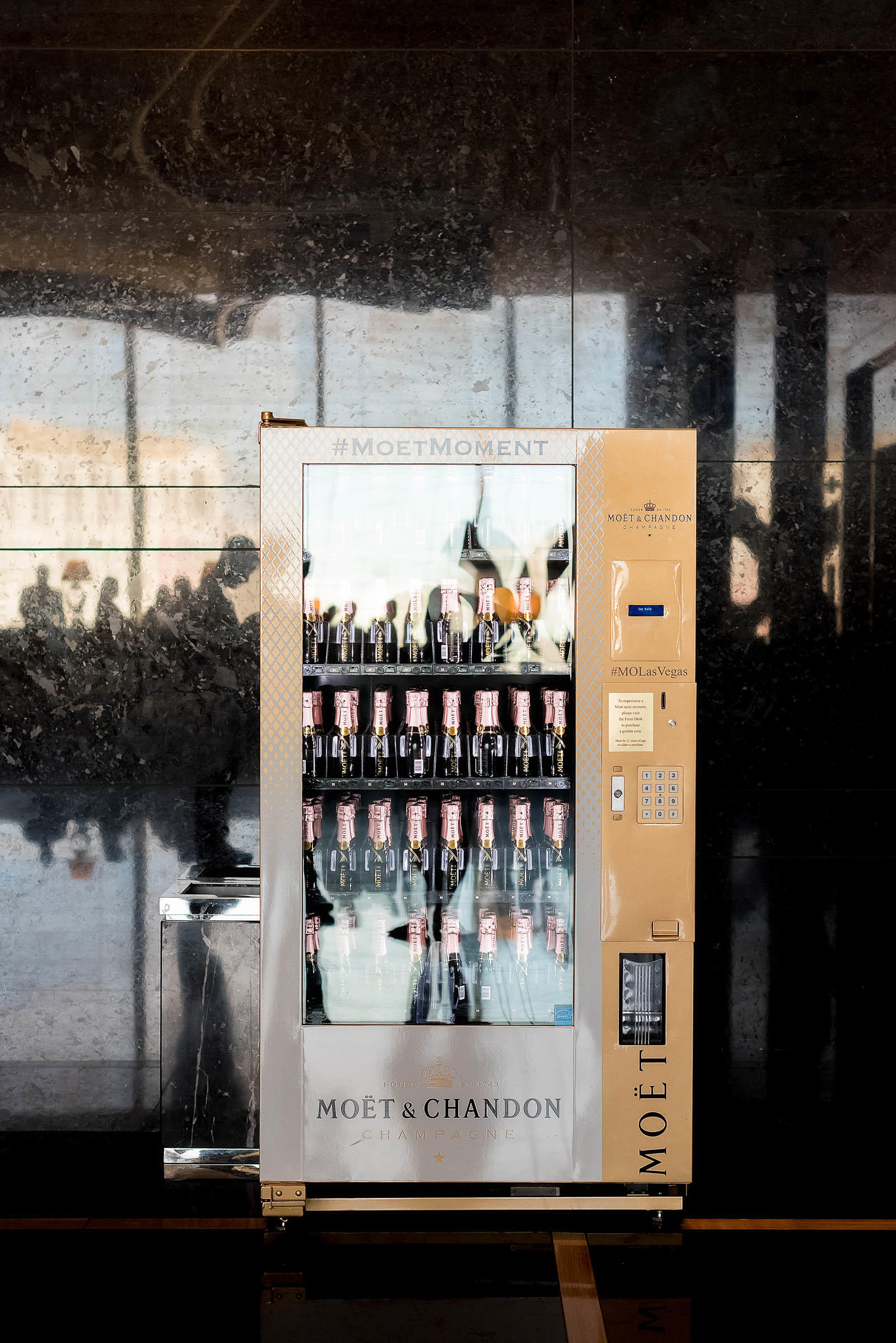 Moet & Chandon Champagne Vending Machine Vegas
