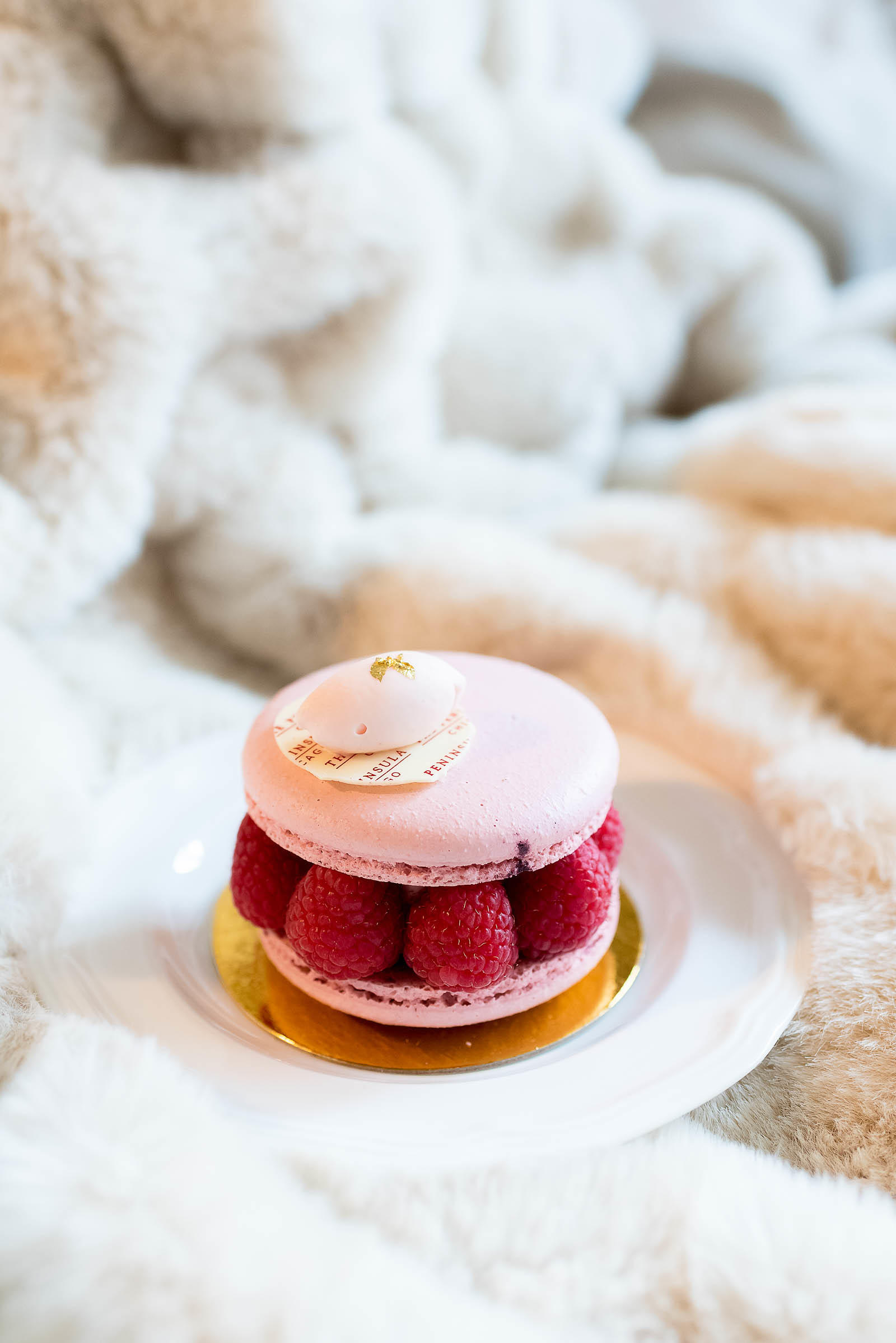 Peninsula Chicago Pierrot Gourmet Raspberry Macaron Sandwich