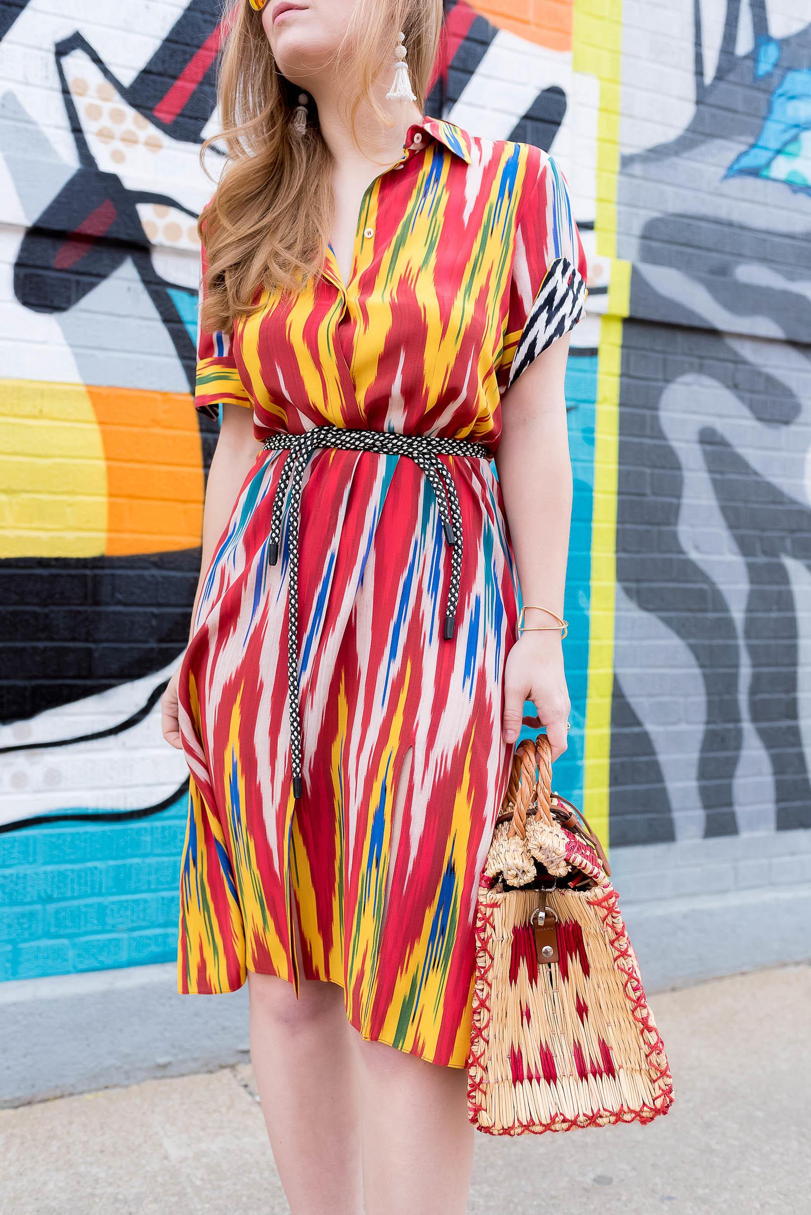Altuzarra Ikat Dress Toino Abel Basket Bag Red Outfit