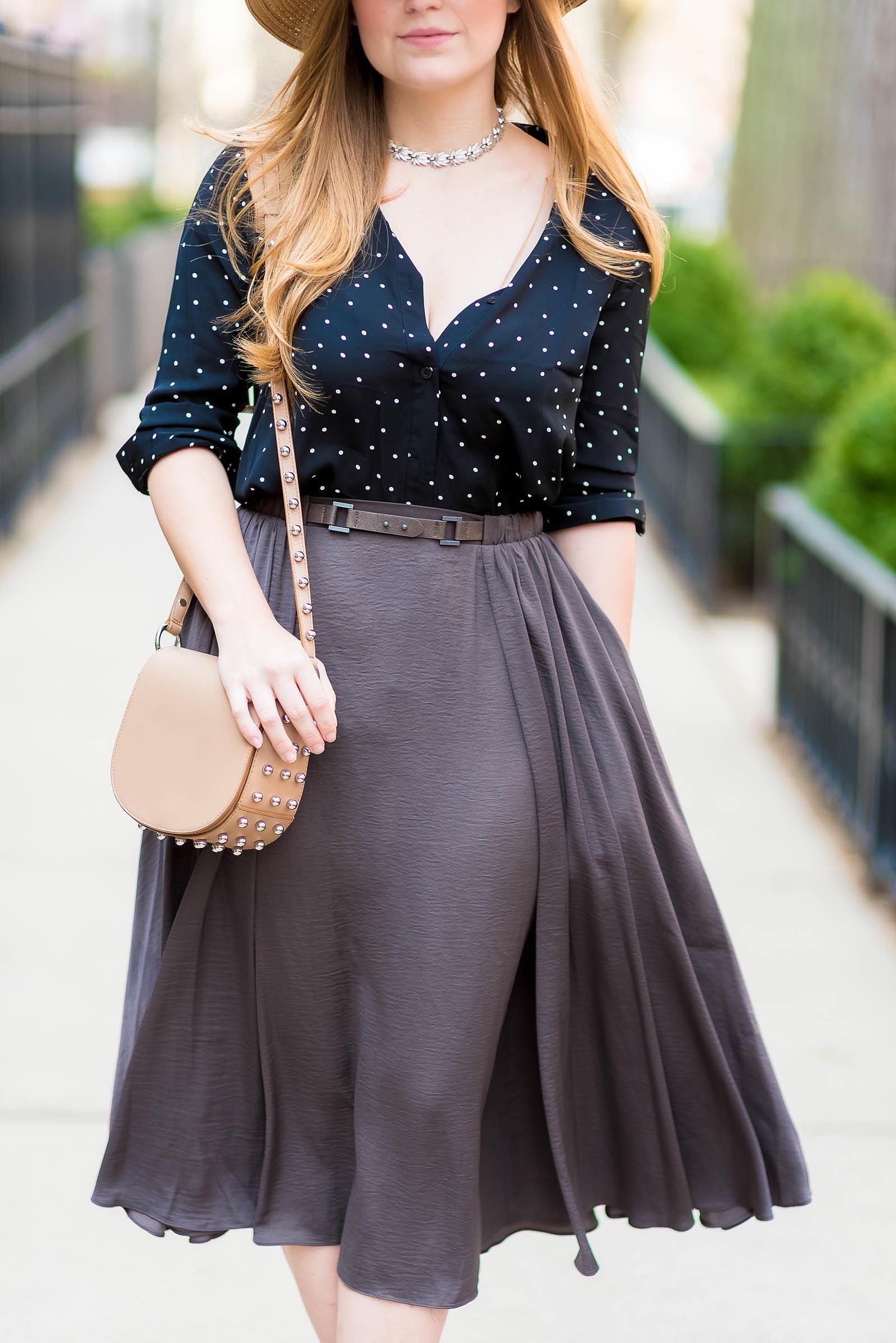 Summer Midi Skirt Outfit Boater Hat Alexander Wang Aquazzura