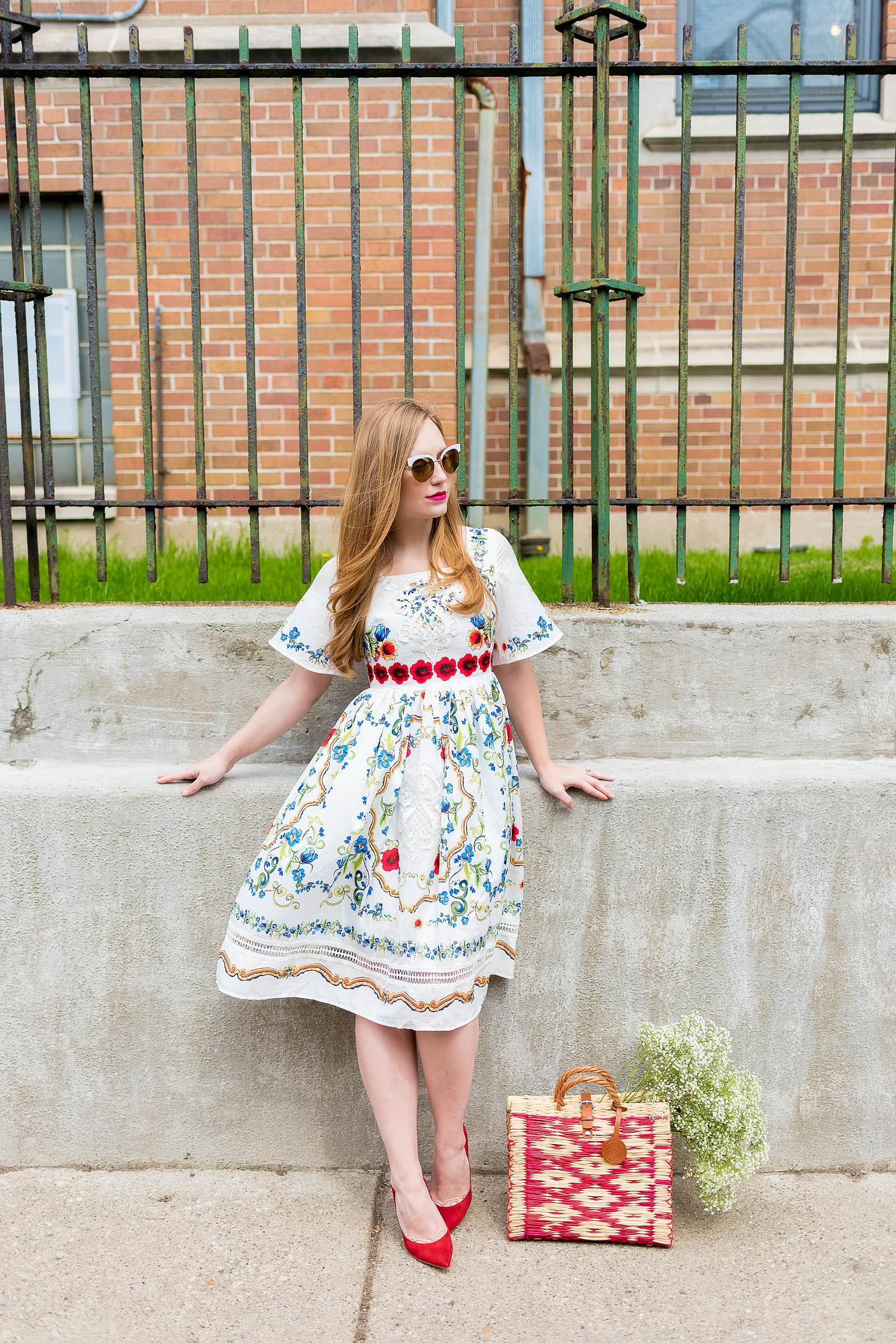 Mexican Floral Dress Style Inspiration